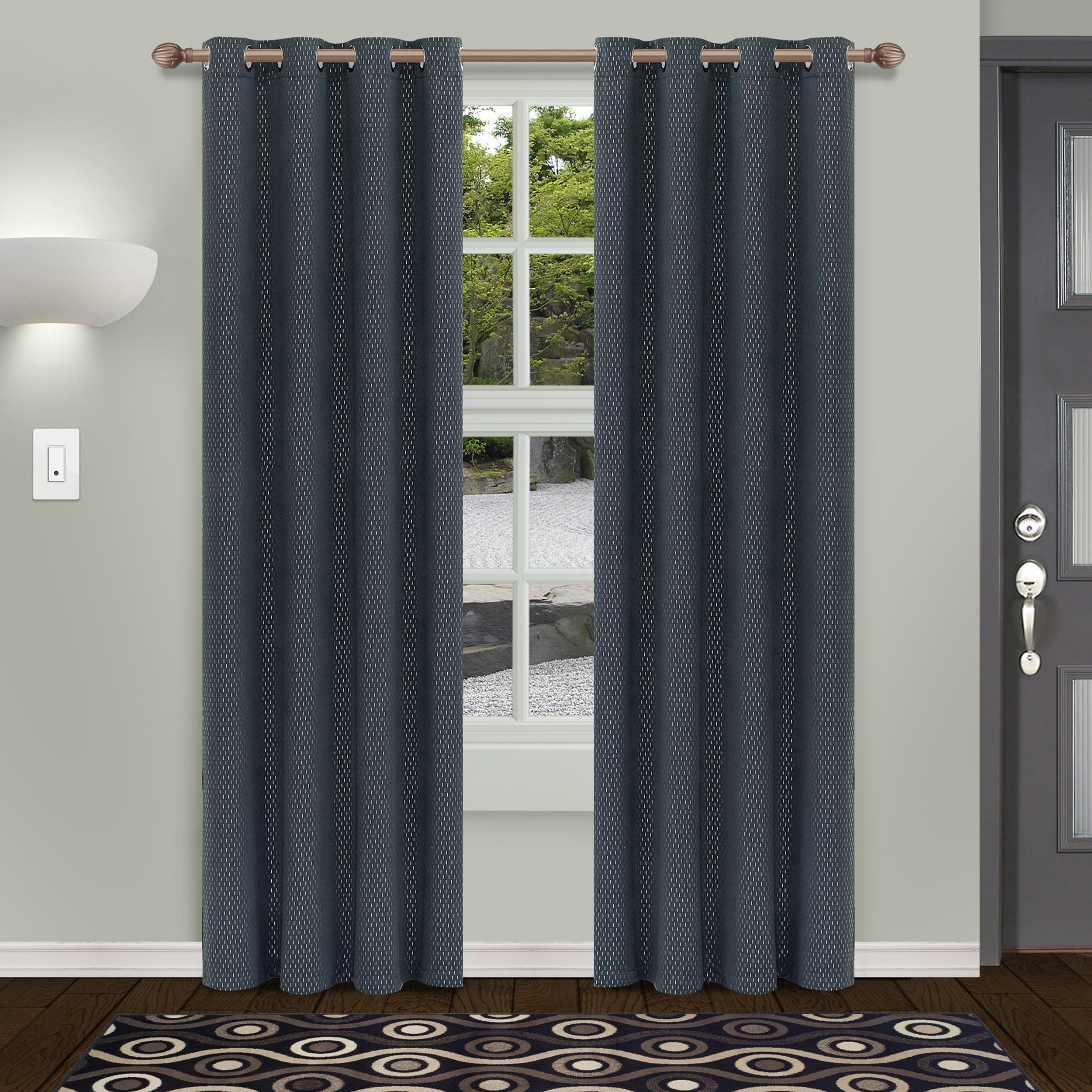 Superior Shimmer Insulated Thermal Blackout Grommet Curtain Panel Pair Pertaining To Embossed Thermal Weaved Blackout Grommet Drapery Curtains (View 14 of 20)