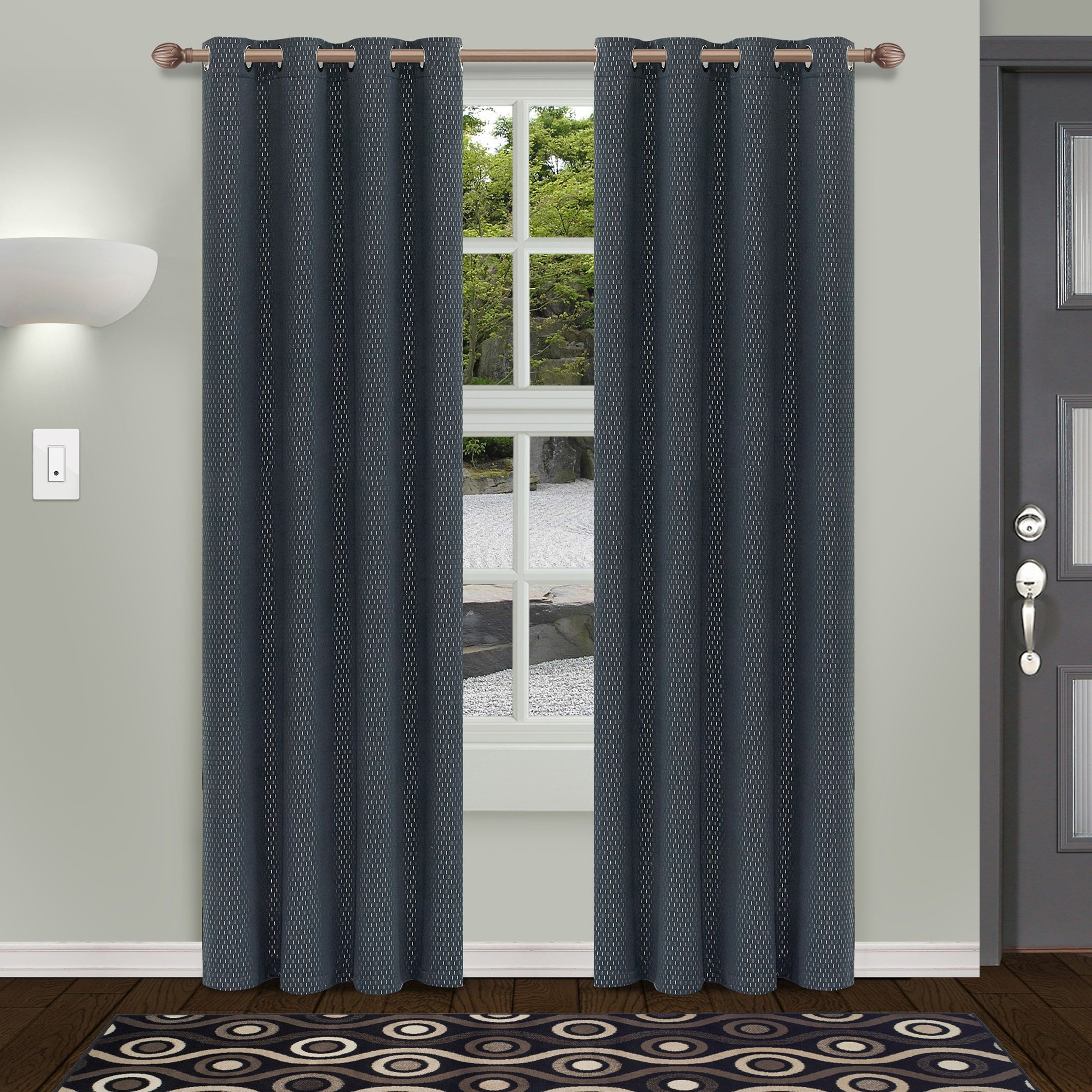Superior Shimmer Insulated Thermal Blackout Grommet Curtain Throughout Superior Solid Insulated Thermal Blackout Grommet Curtain Panel Pairs (View 5 of 30)