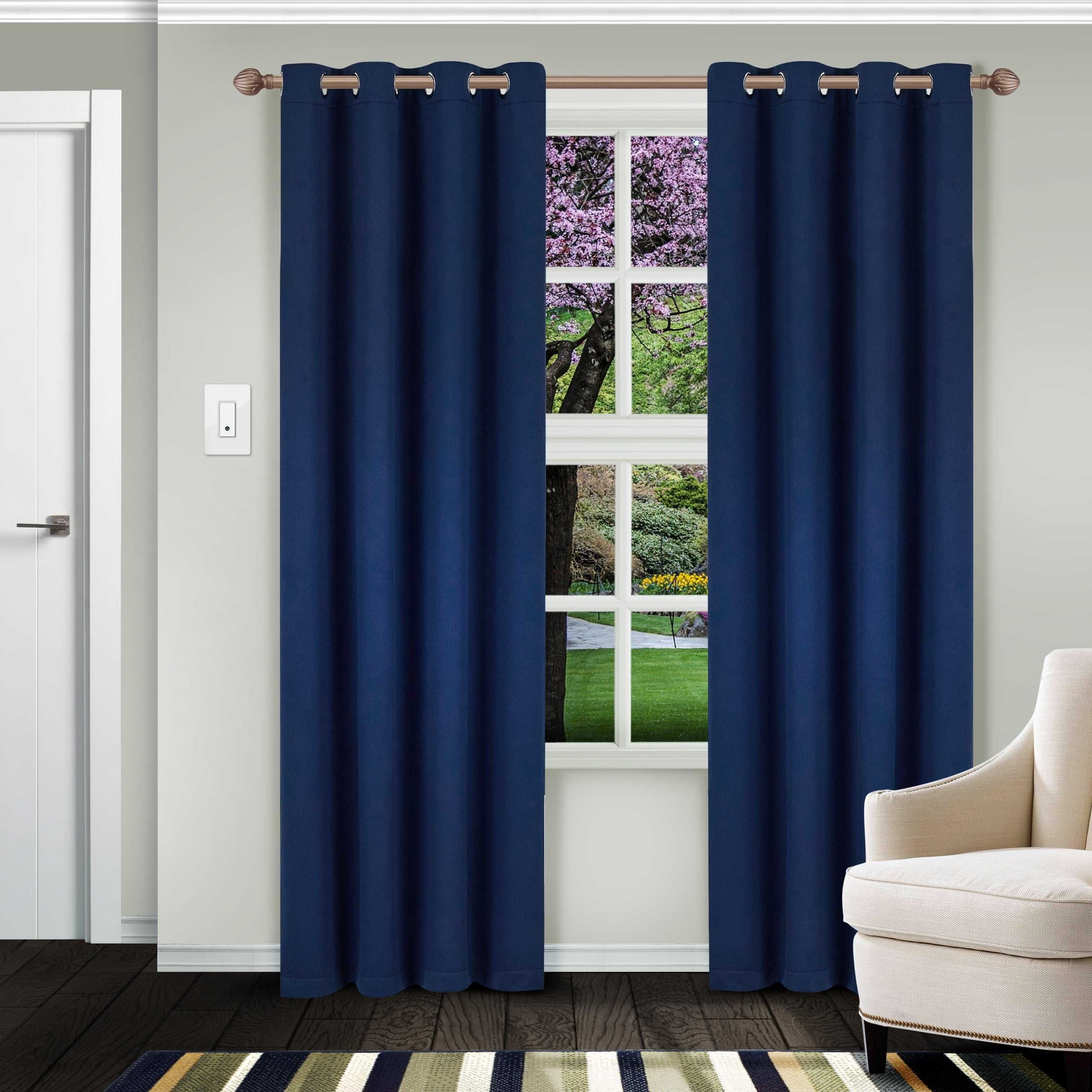Superior Solid Insulated Thermal Blackout Grommet Curtain Panel Pair For Superior Solid Insulated Thermal Blackout Grommet Curtain Panel Pairs (View 2 of 30)