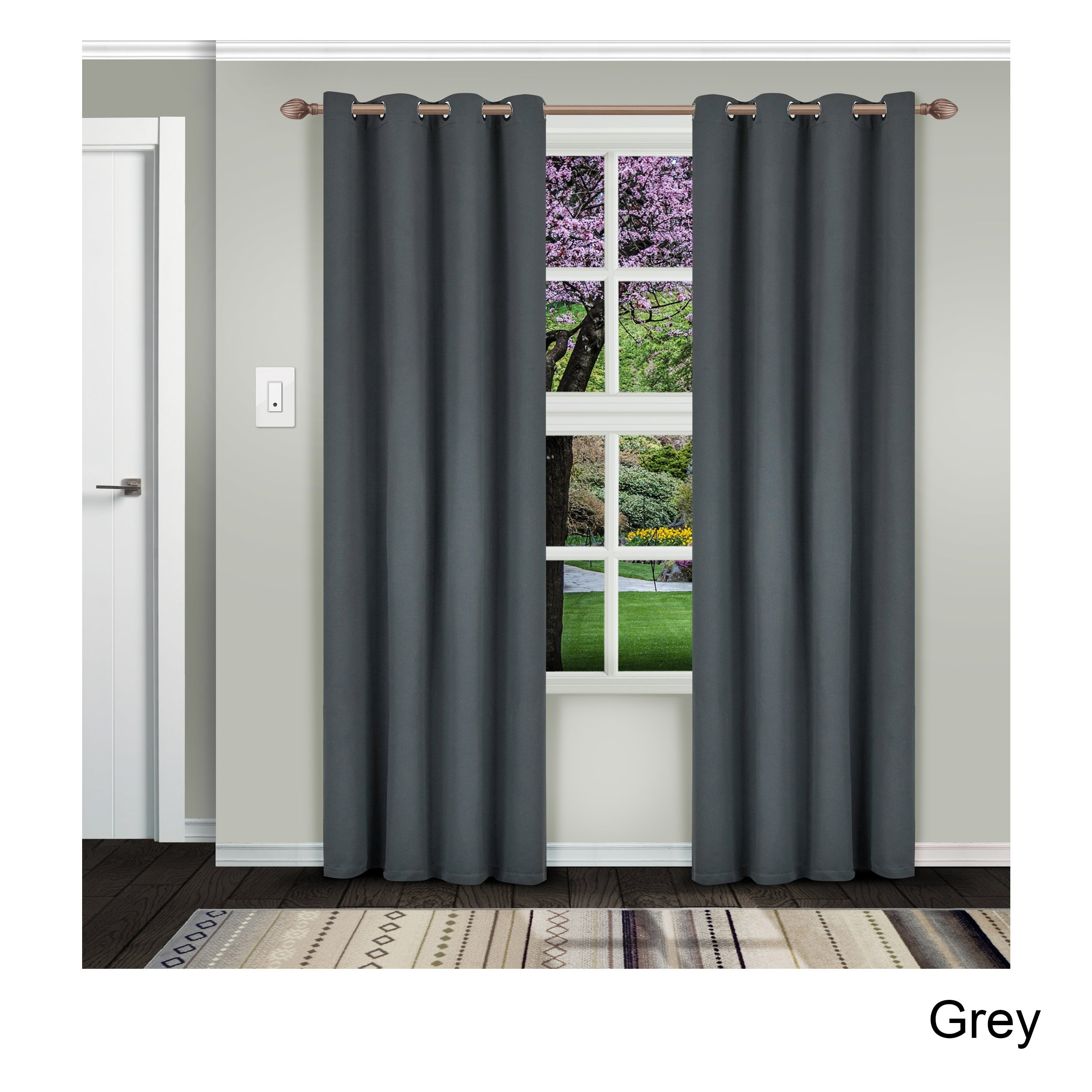 Featured Photo of Superior Solid Insulated Thermal Blackout Grommet Curtain Panel Pairs