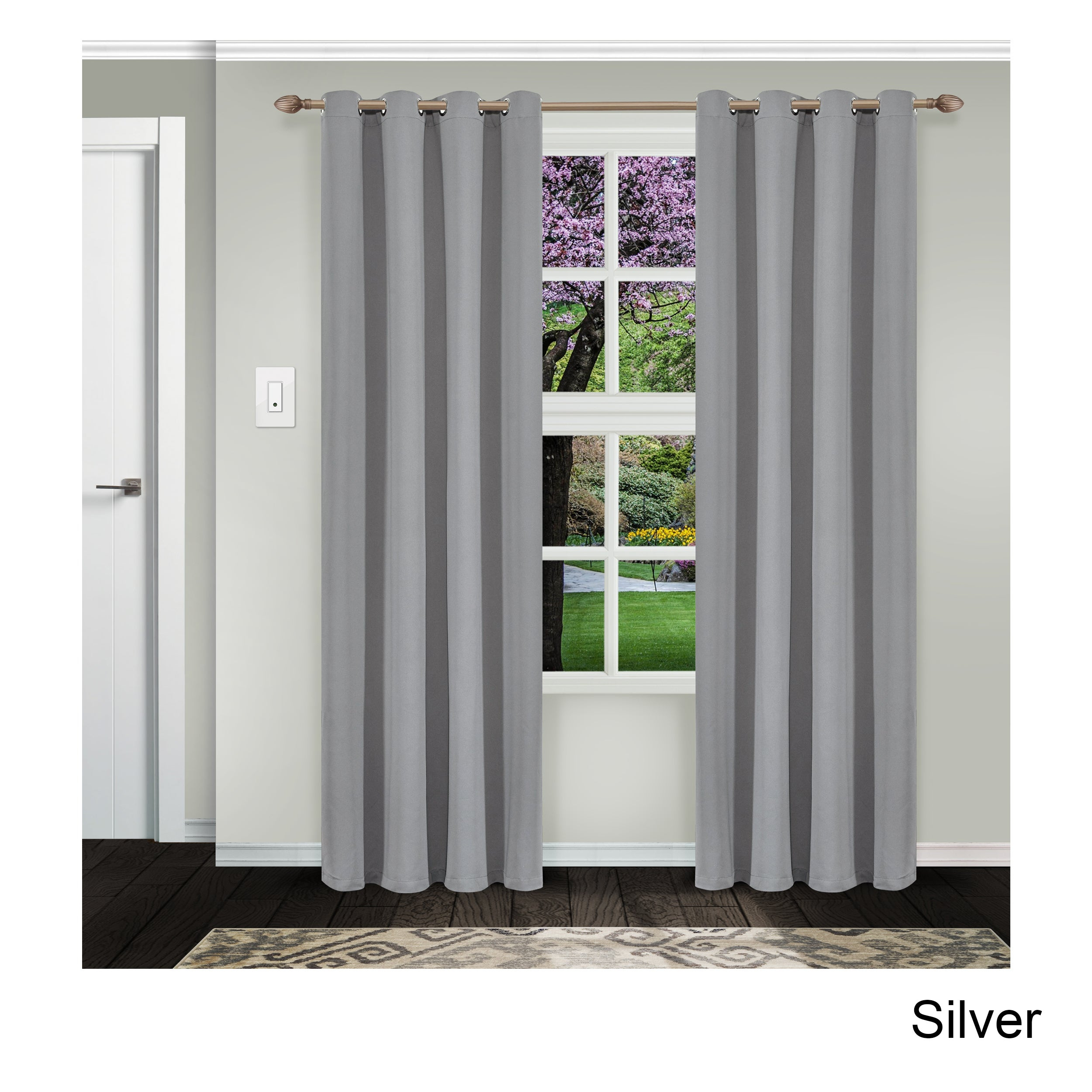 Superior Solid Insulated Thermal Blackout Grommet Curtain Panel Pair Within Superior Solid Insulated Thermal Blackout Grommet Curtain Panel Pairs (View 3 of 30)