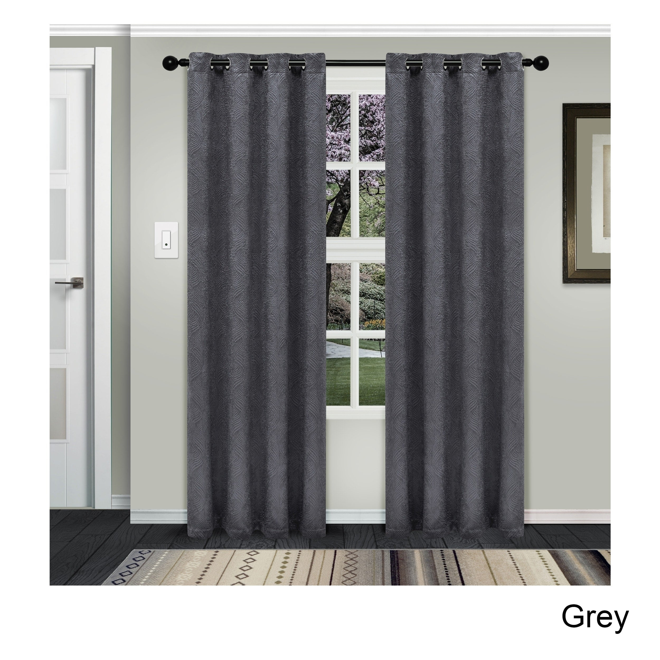 Superior Waverly Insulated Thermal Blackout Grommet Curtain Panel Pair In Twig Insulated Blackout Curtain Panel Pairs With Grommet Top (View 17 of 30)