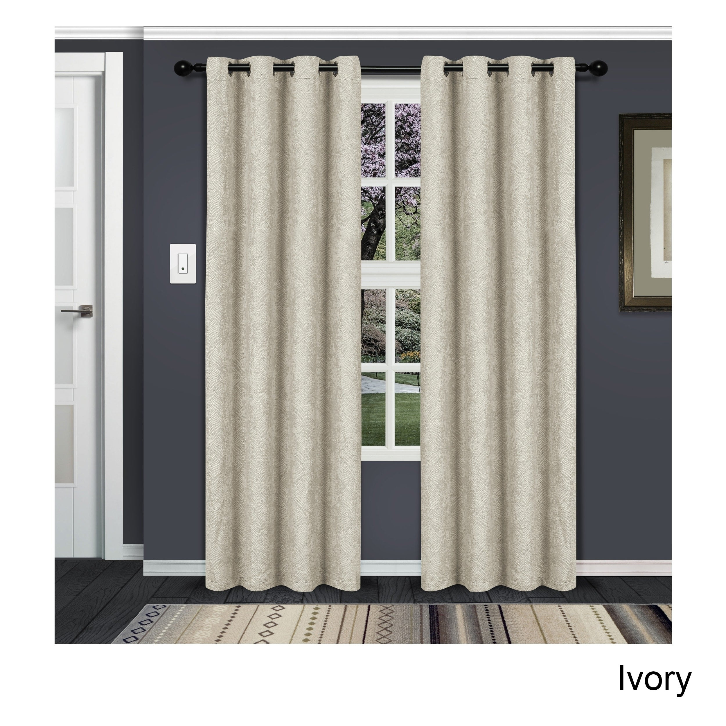 Superior Waverly Insulated Thermal Blackout Grommet Curtain Panel Pair Intended For Superior Solid Insulated Thermal Blackout Grommet Curtain Panel Pairs (View 14 of 30)