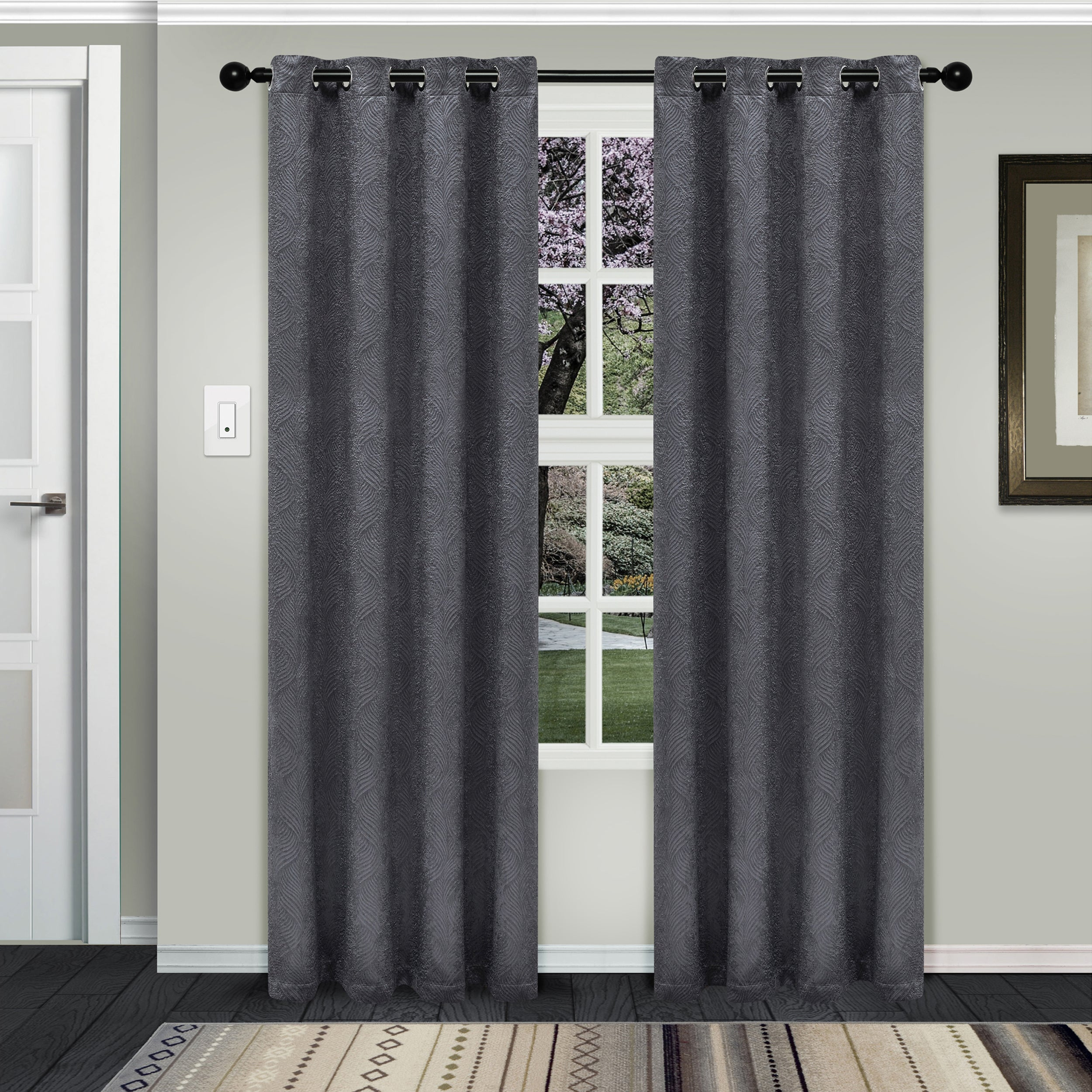 Superior Waverly Insulated Thermal Blackout Grommet Curtain Panel Pair Throughout Gracewood Hollow Tucakovic Energy Efficient Fabric Blackout Curtains (View 3 of 20)