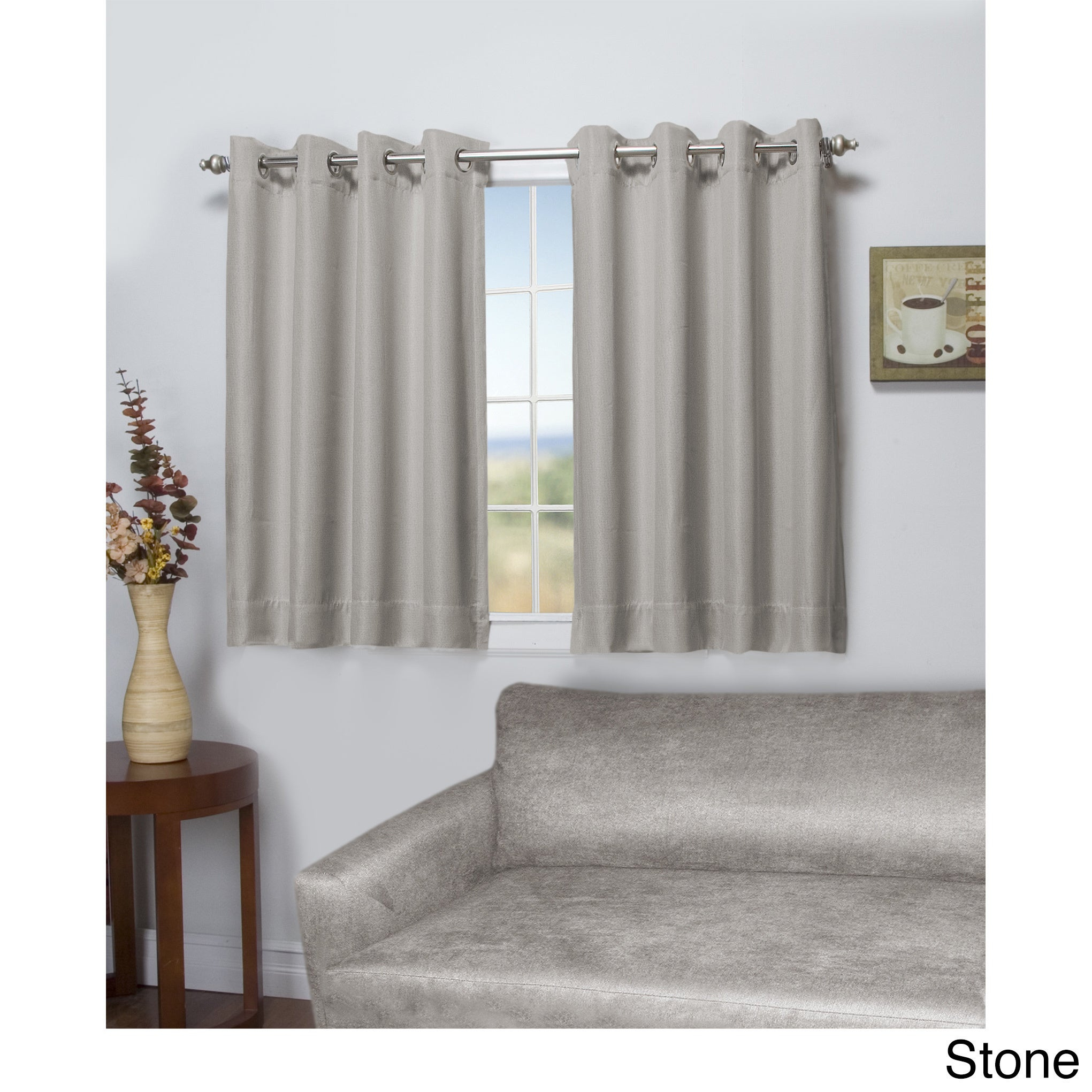 Tacoma Double Blackout Grommet Curtain Panel – Short Length Intended For Blackout Grommet Curtain Panels (View 20 of 20)