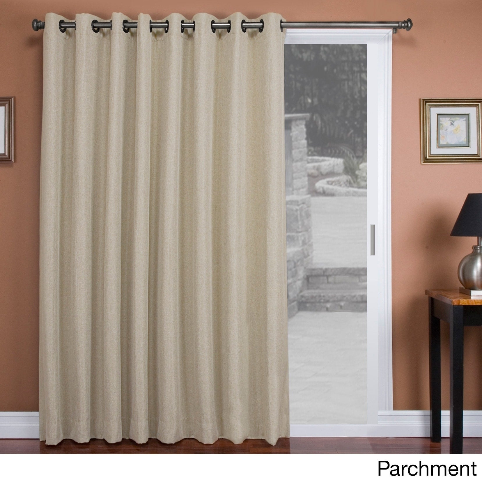 "Tacoma Double-Blackout Grommet Patio Curtain Panel - 106""w X 84""l in Tacoma Double-Blackout Grommet Curtain Panels (Image 25 of 30)"