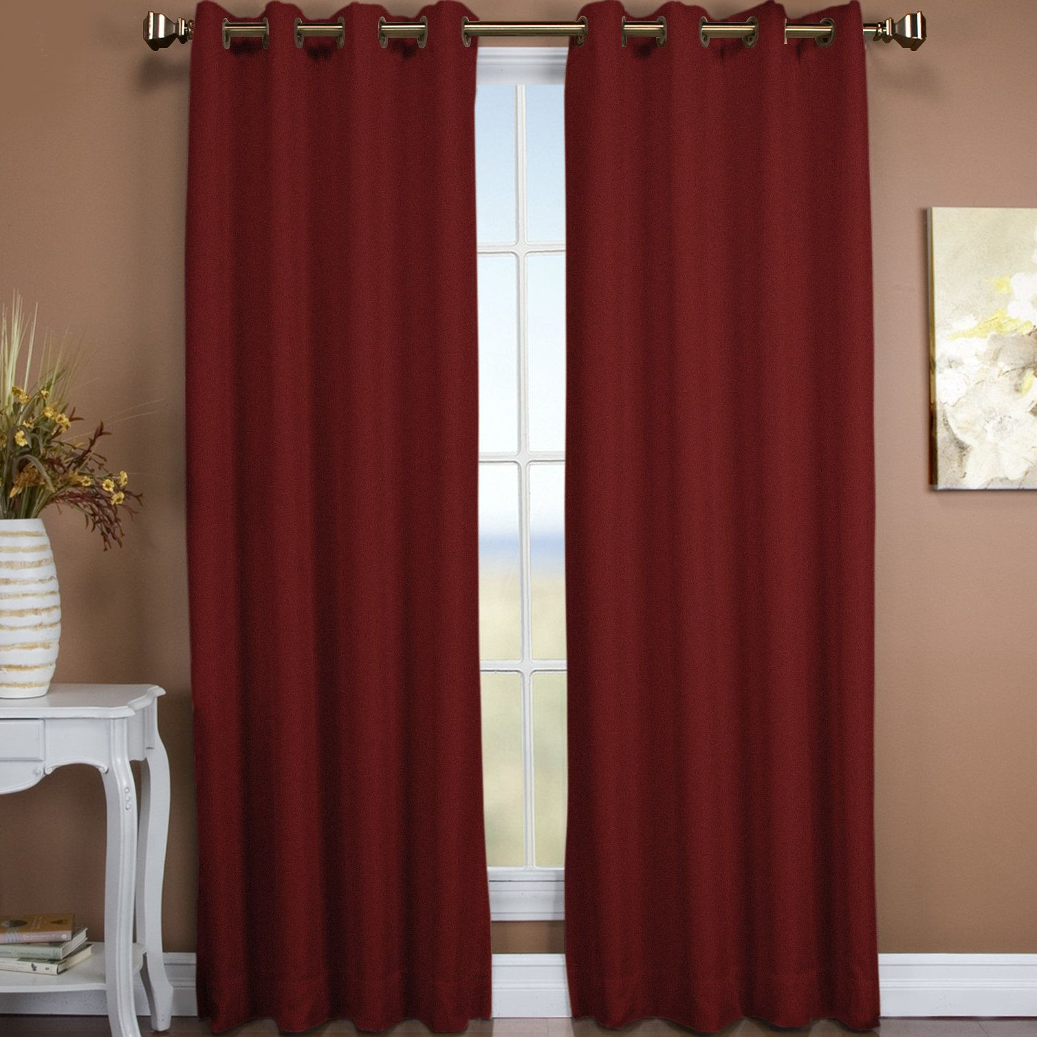 Tacoma Solid Blackout Thermal Single Curtain Panel intended for Tacoma Double-Blackout Grommet Curtain Panels (Image 27 of 30)