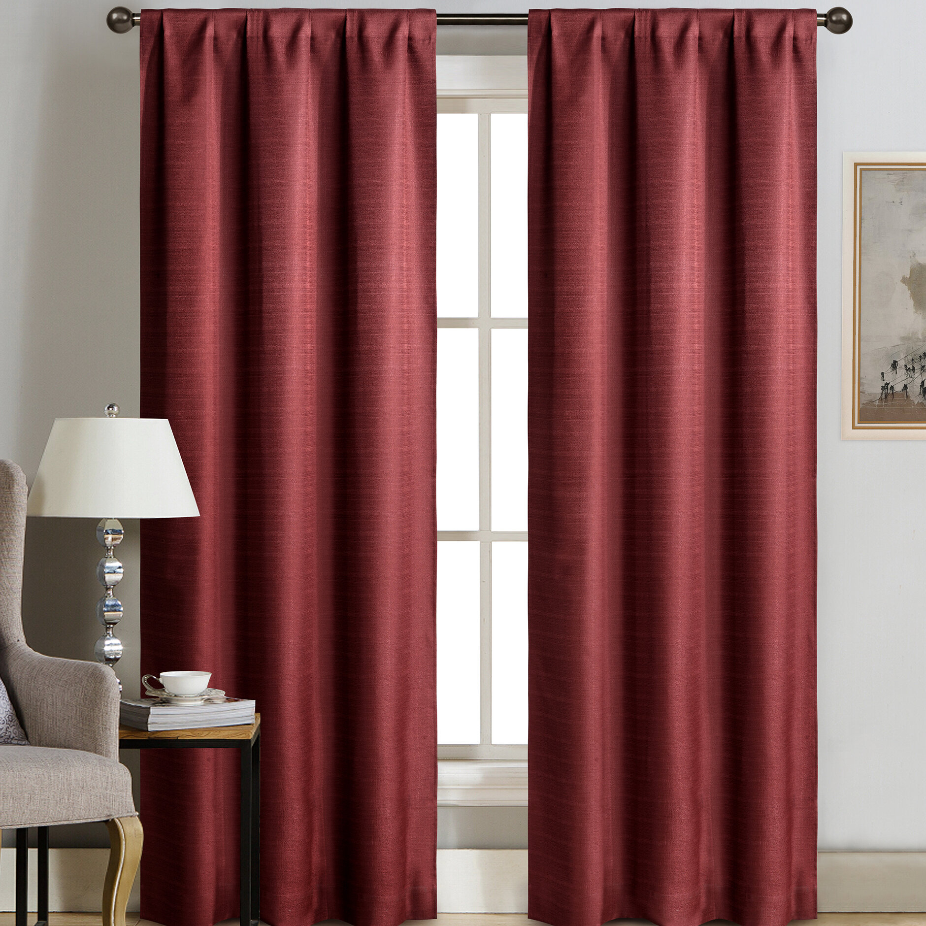 Terrazas Solid Color Semi Sheer Grommet Curtain Panels With Luxury Collection Cranston Sheer Curtain Panel Pairs (View 20 of 20)