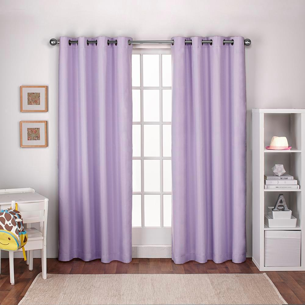 Textured Linen Lilac Purple Thermal Grommet Top Window Curtain With Regard To Thermal Textured Linen Grommet Top Curtain Panel Pairs (View 7 of 30)
