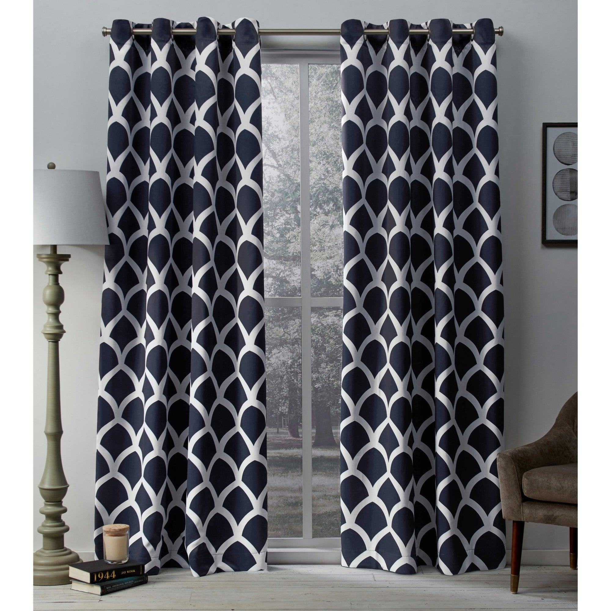 The Curated Nomad Ames Sateen Woven Blackout Grommet Top Curtain Panel Pair In The Curated Nomad Duane Blackout Curtain Panel Pairs (View 22 of 30)