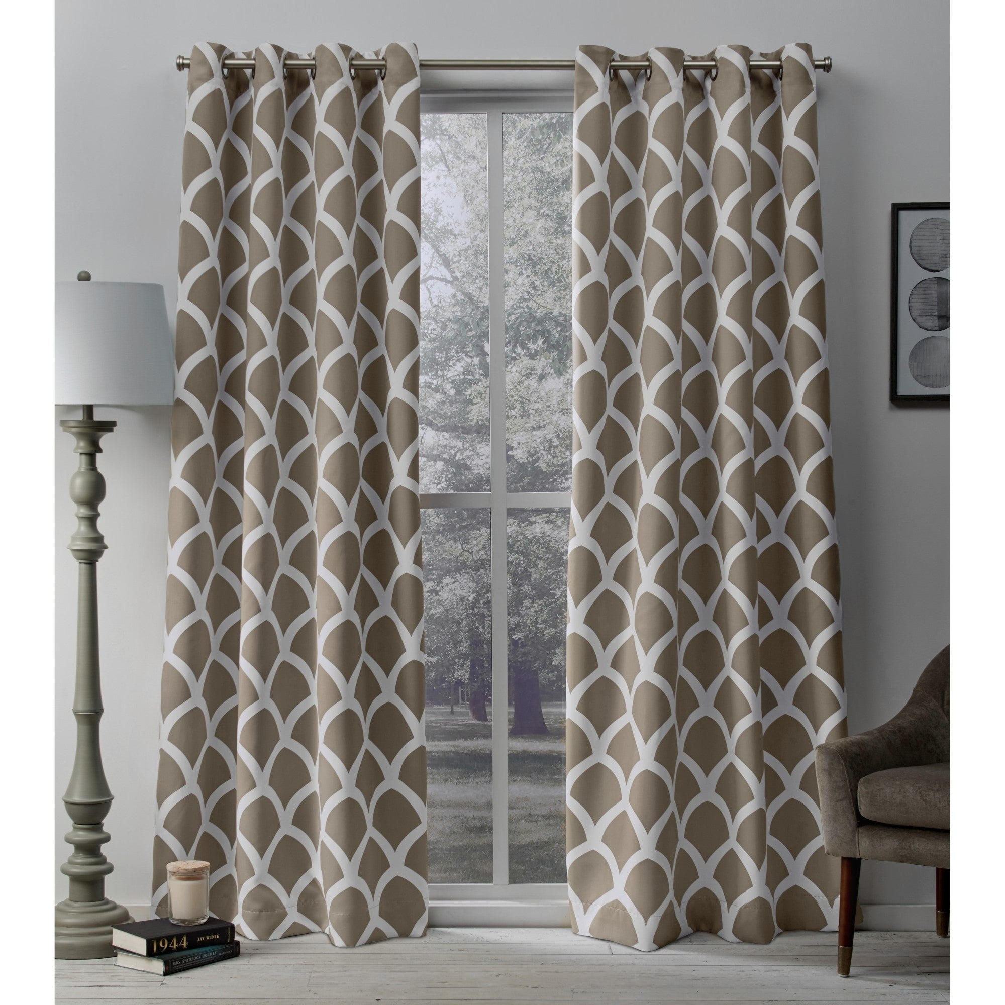 The Curated Nomad Ames Sateen Woven Blackout Grommet Top Curtain Panel Pair Regarding The Curated Nomad Duane Jacquard Grommet Top Curtain Panel Pairs (View 7 of 30)