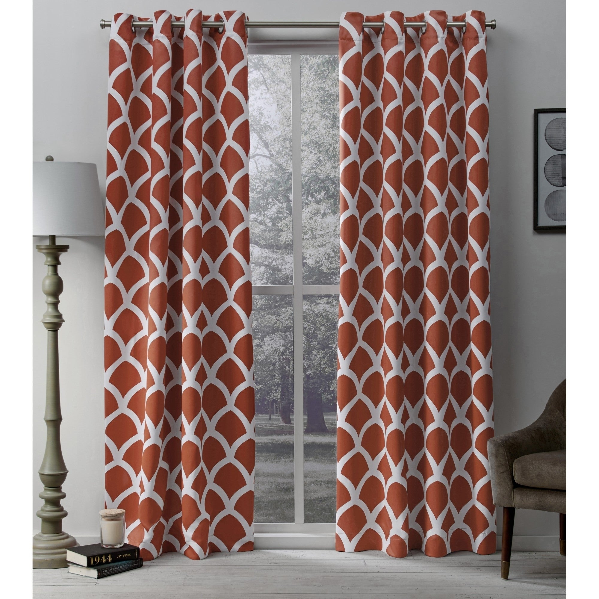 The Curated Nomad Ames Sateen Woven Blackout Grommet Top Curtain Panel Pair With Regard To Sateen Woven Blackout Curtain Panel Pairs With Pinch Pleat Top (View 20 of 20)