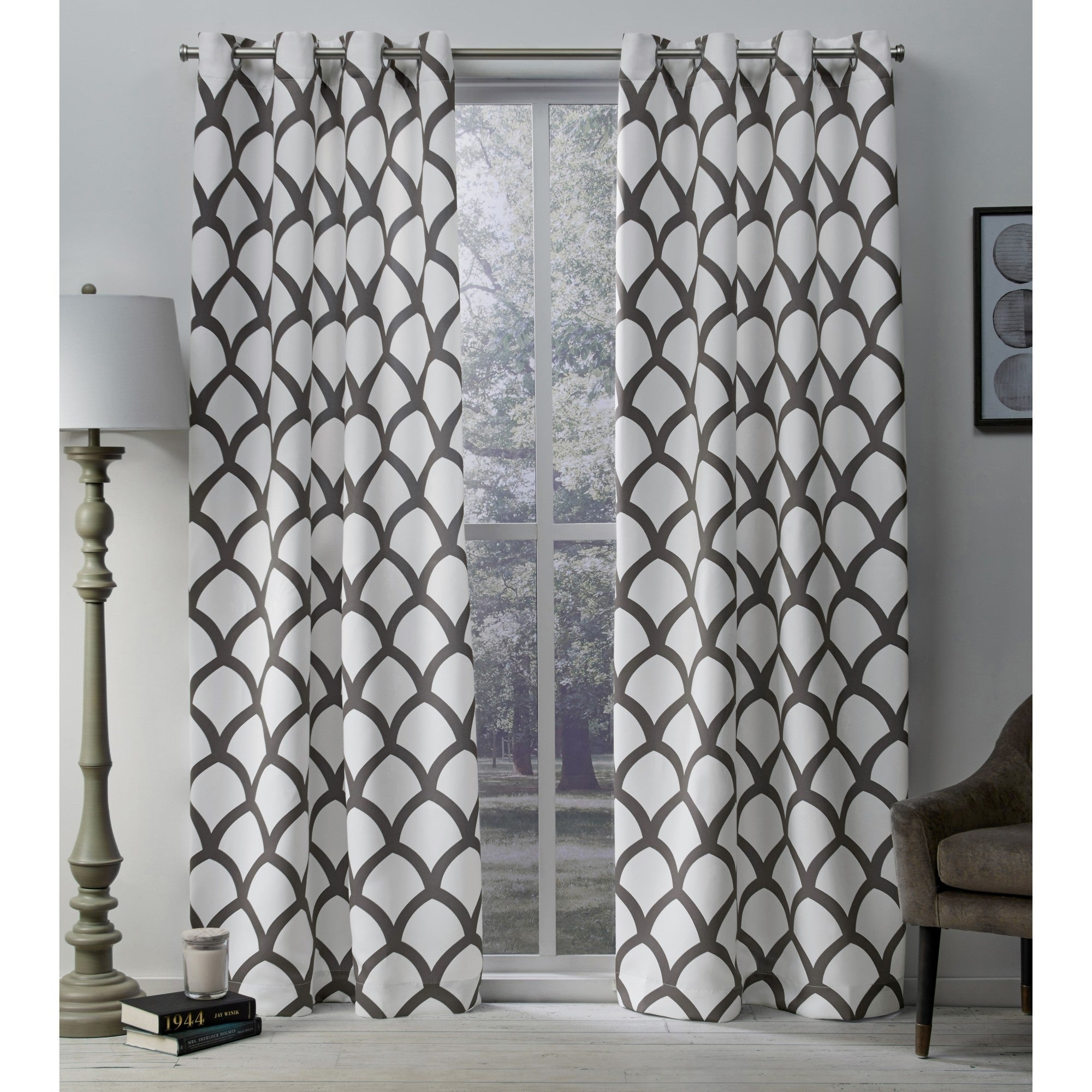 The Curated Nomad Ames Sateen Woven Blackout Grommet Top Curtain Panel Pair With Regard To The Curated Nomad Duane Blackout Curtain Panel Pairs (View 13 of 30)
