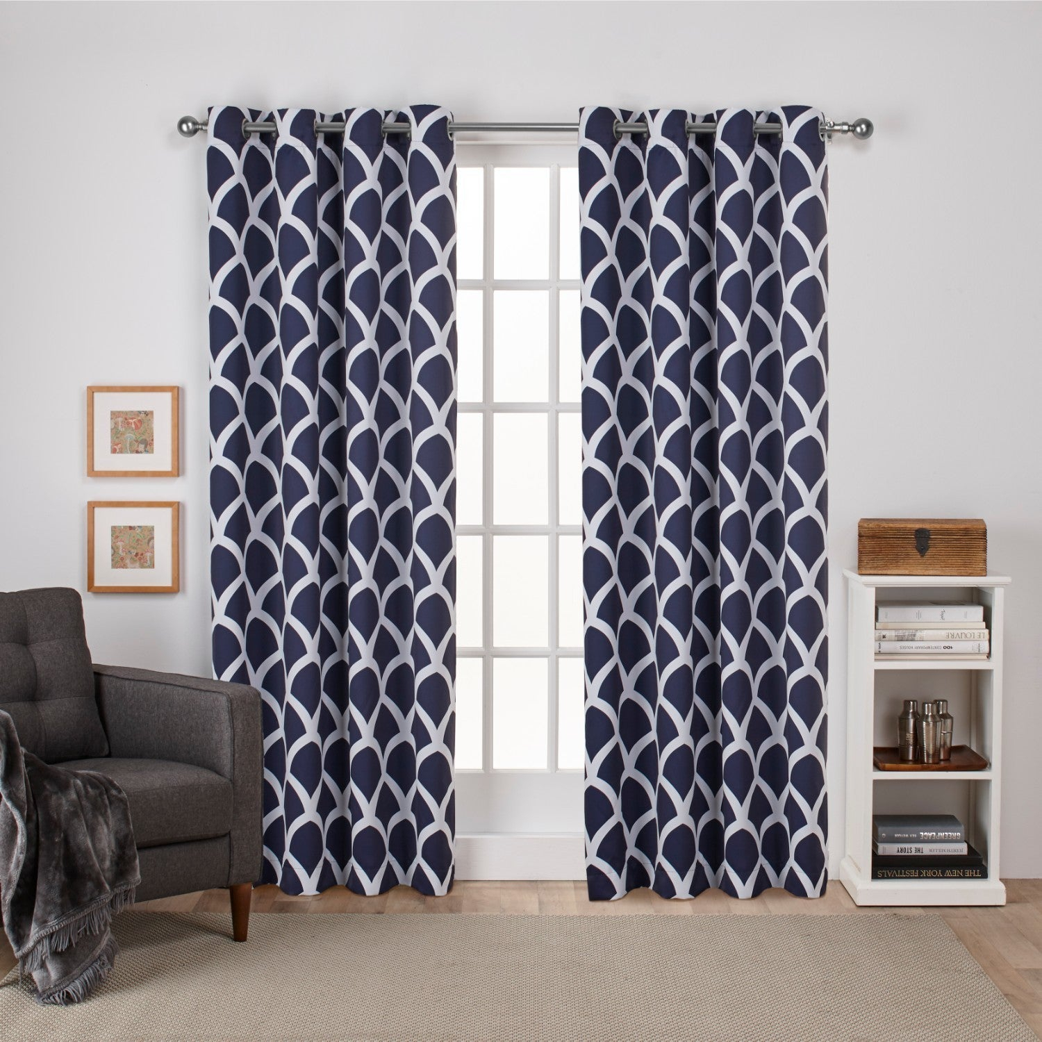 The Curated Nomad Ames Sateen Woven Blackout Grommet Top Curtain Panel Pair With Regard To The Curated Nomad Duane Blackout Curtain Panel Pairs (View 15 of 30)