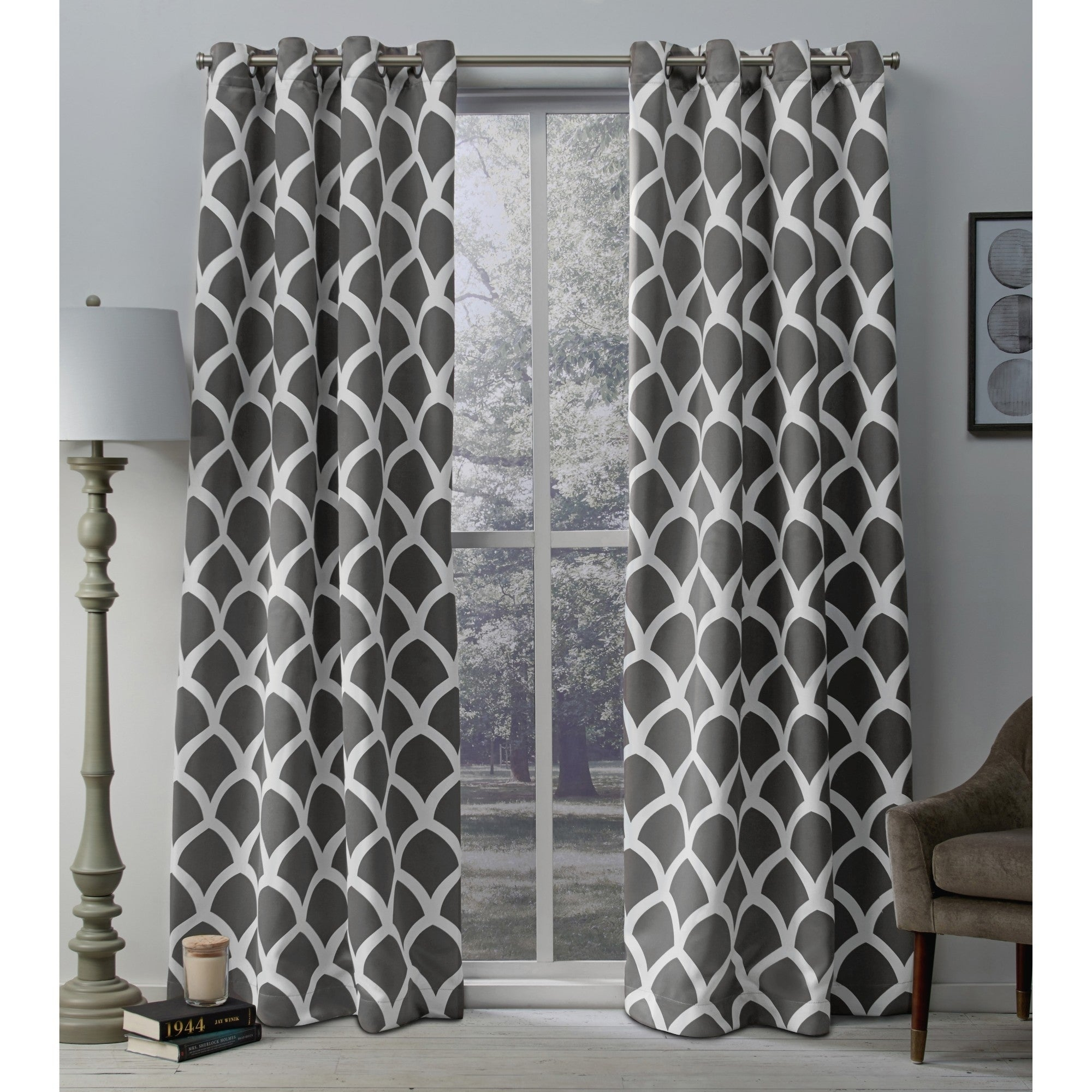 The Curated Nomad Ames Sateen Woven Blackout Grommet Top Curtain Panel Pair With Regard To The Curated Nomad Duane Blackout Curtain Panel Pairs (View 8 of 30)
