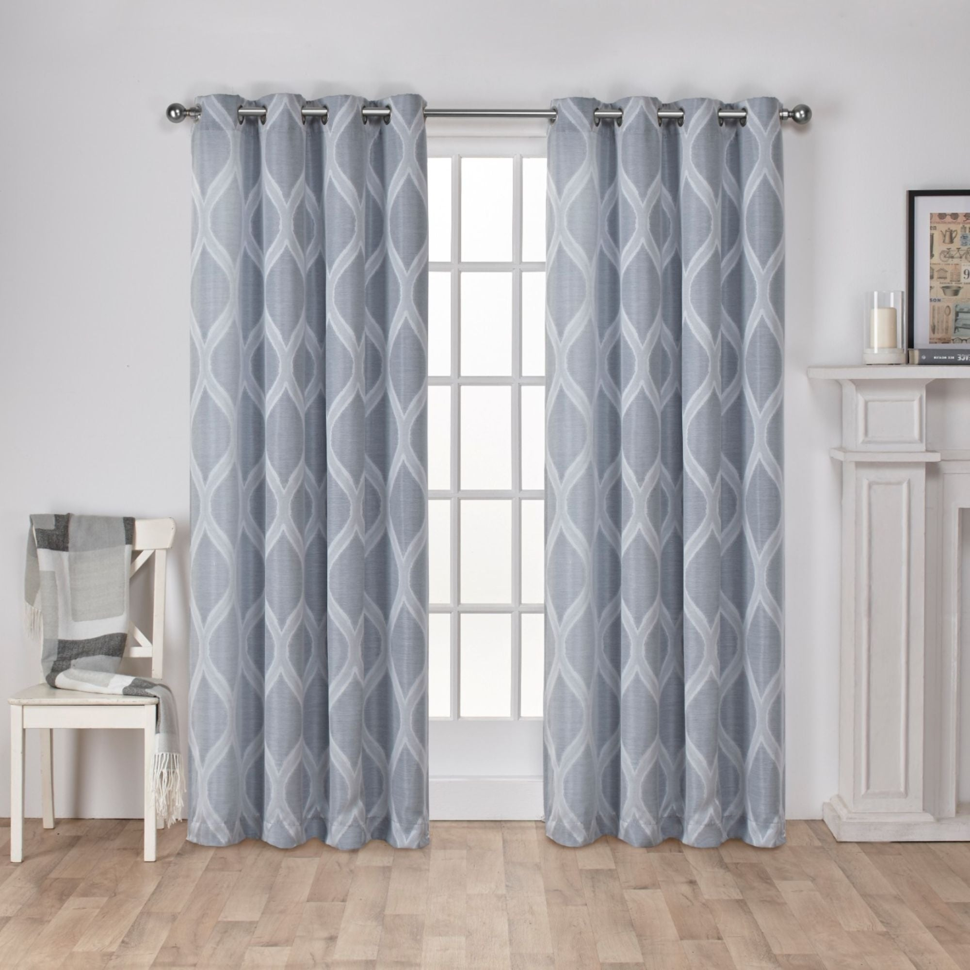 The Curated Nomad Carlton Jacquard Grommet Top Curtain Panel Pair With The Curated Nomad Duane Jacquard Grommet Top Curtain Panel Pairs (View 24 of 30)