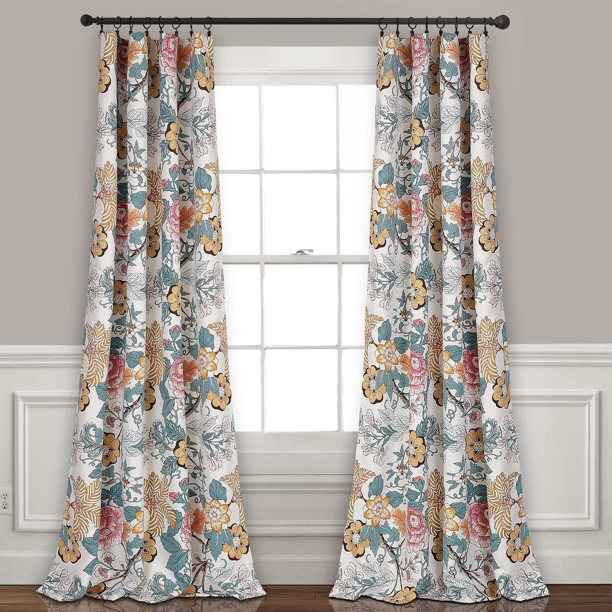 The Curated Nomad Chorro Room Darkening Curtain Panel Pair With Dolores Room Darkening Floral Curtain Panel Pairs (View 14 of 20)