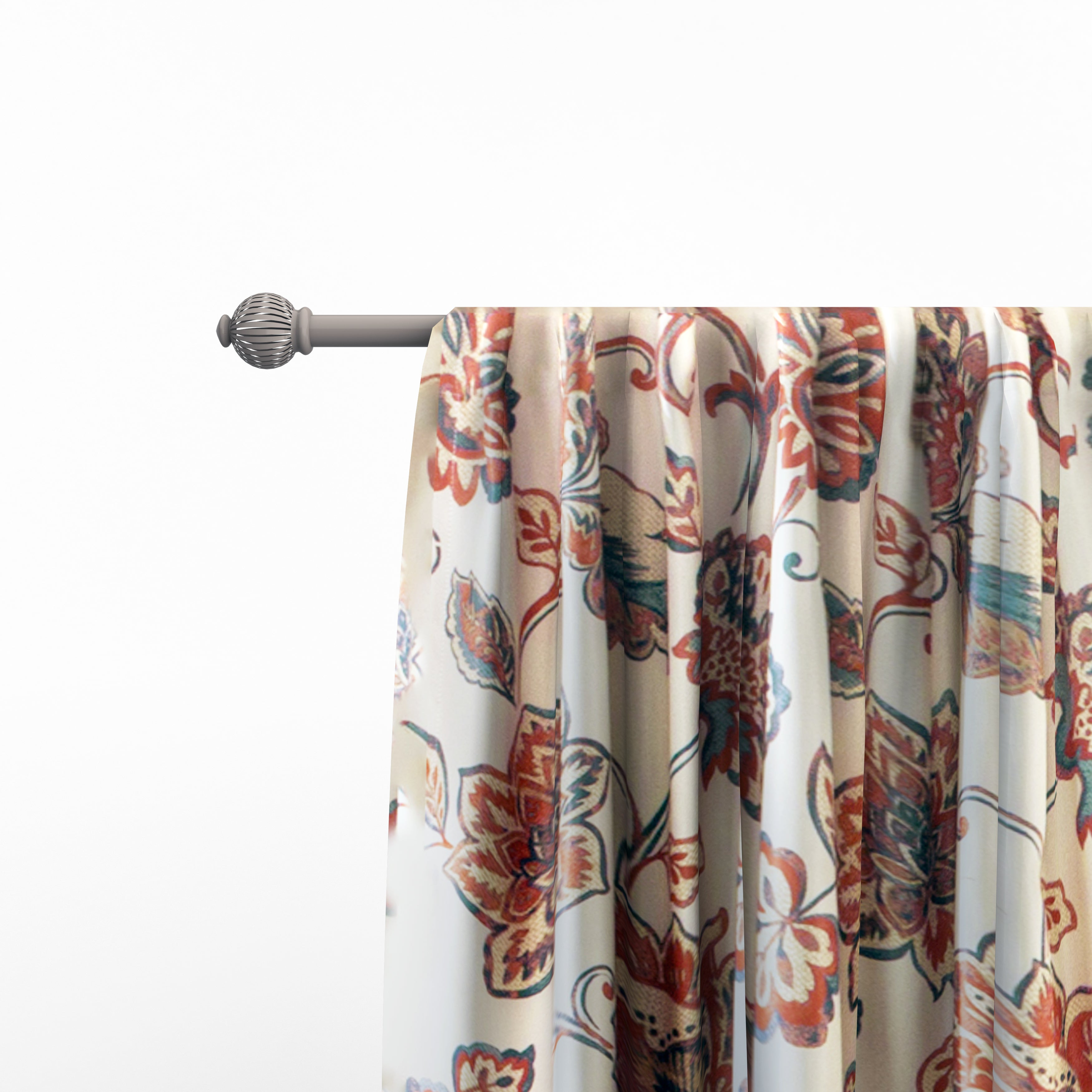 The Curated Nomad Conchita Floral Curtain Panel Pair Regarding Gray Barn Dogwood Floral Curtain Panel Pairs (View 5 of 20)