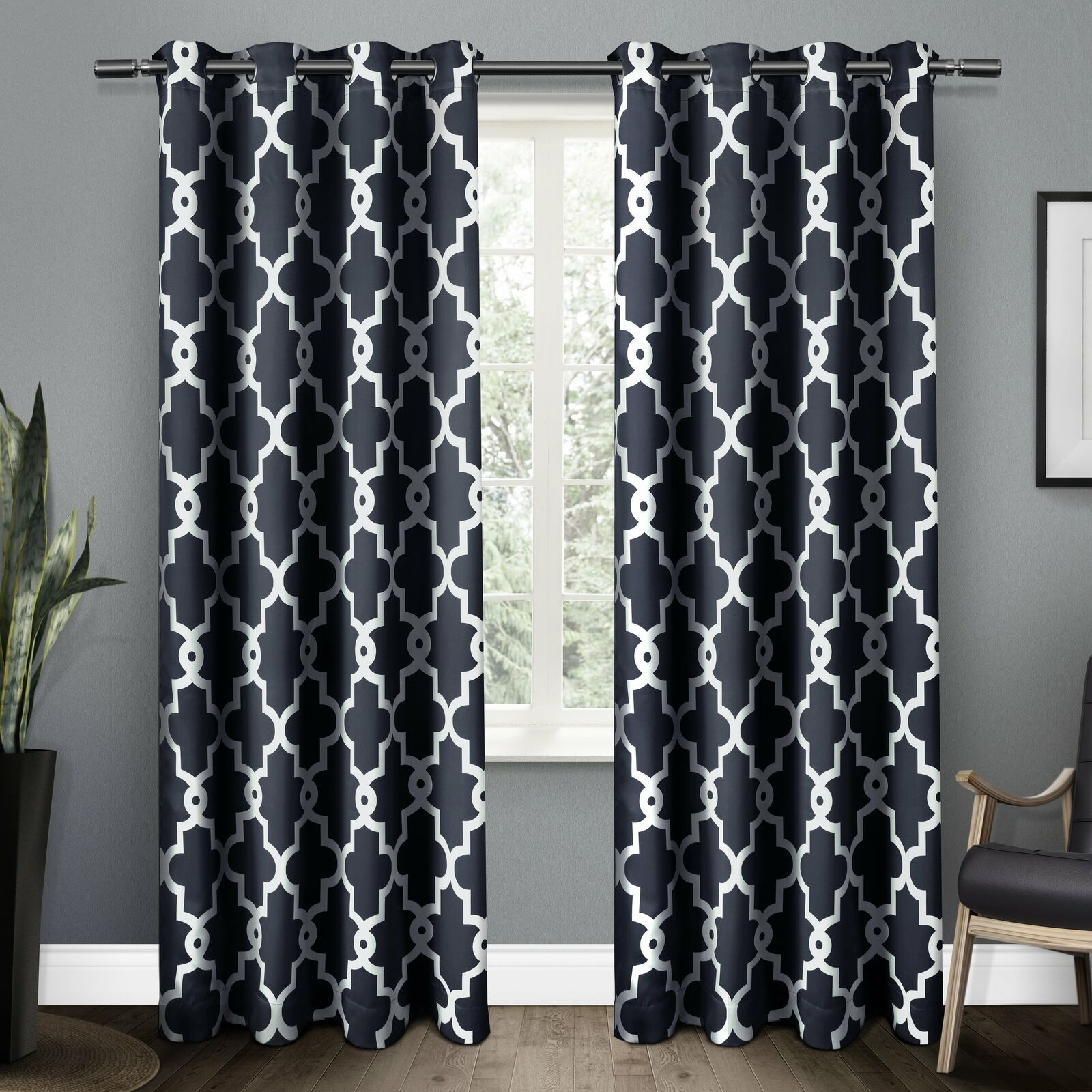 The Curated Nomad Duane Blackout Curtain Panel Pair Throughout The Curated Nomad Duane Jacquard Grommet Top Curtain Panel Pairs (View 10 of 30)