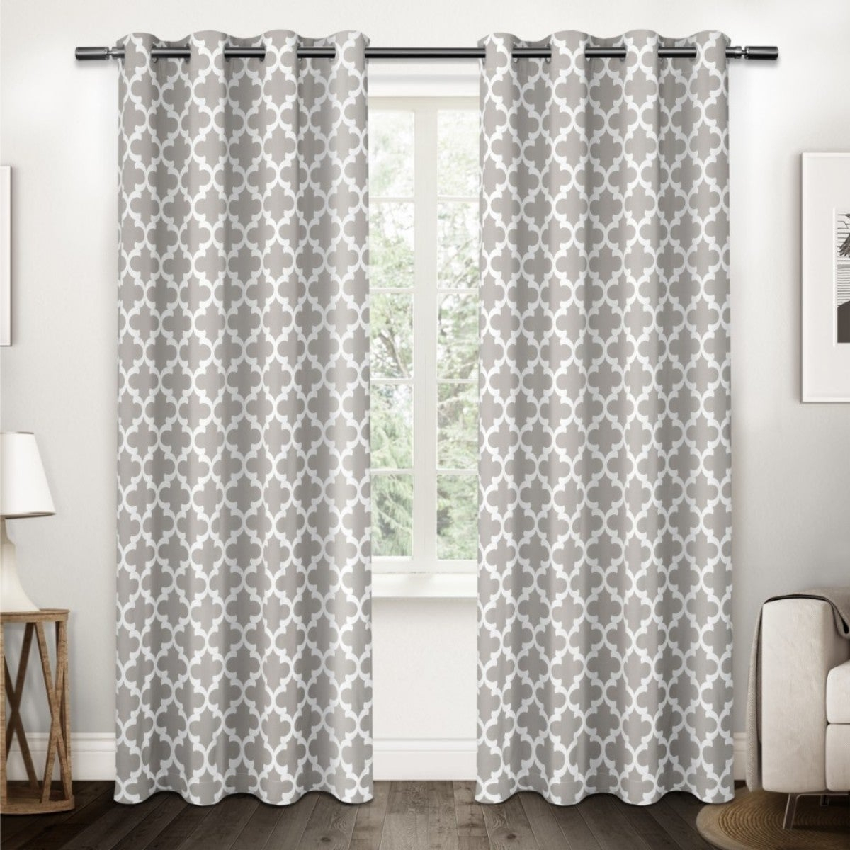 The Curated Nomad Goodlett Cotton Grommet Top Curtain Panel Pair | Overstock Shopping – The Best Deals On Curtains Within The Curated Nomad Duane Jacquard Grommet Top Curtain Panel Pairs (View 16 of 30)