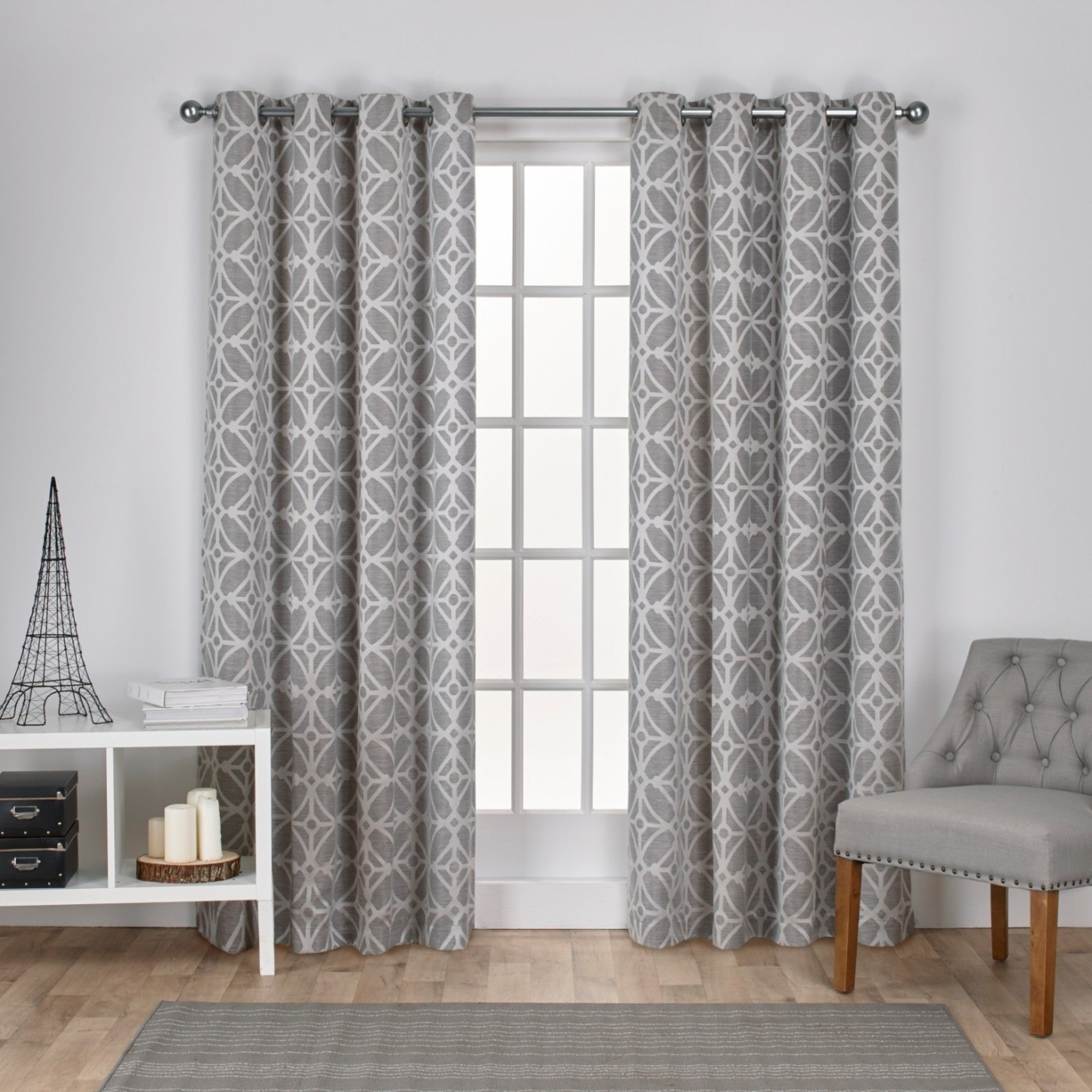 Featured Photo of The Curated Nomad Duane Jacquard Grommet Top Curtain Panel Pairs