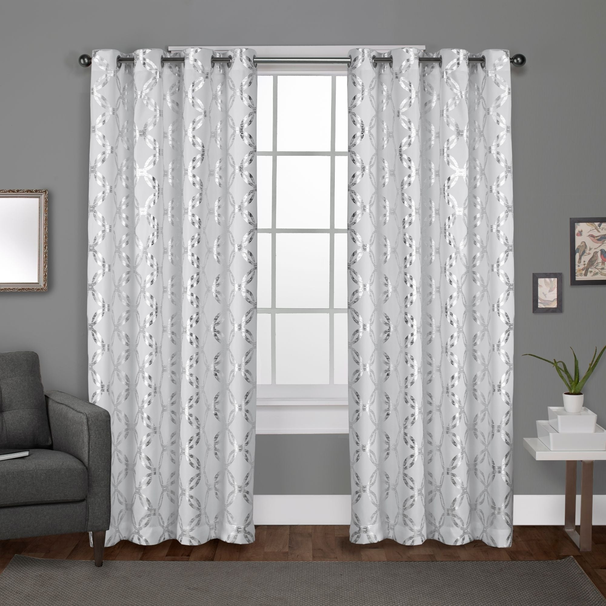 The Curated Nomad Sloat Metallic Geometric Grommet Top Curtain Panel Pair For The Curated Nomad Duane Jacquard Grommet Top Curtain Panel Pairs (View 19 of 30)