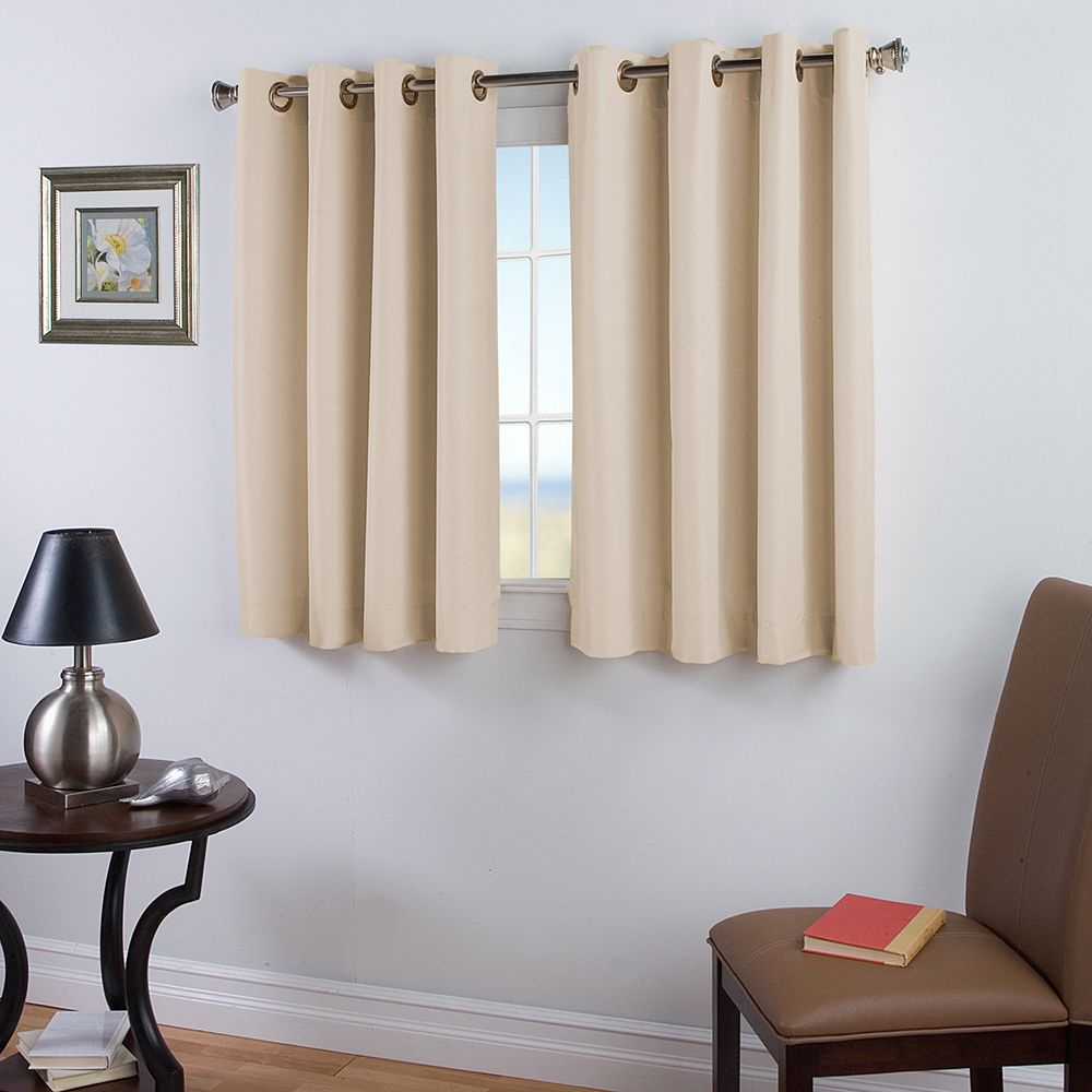 The Elegance 45 Inch Length Panel Is Perfect For Any Room Intended For Ultimate Blackout Short Length Grommet Curtain Panels (View 9 of 30)