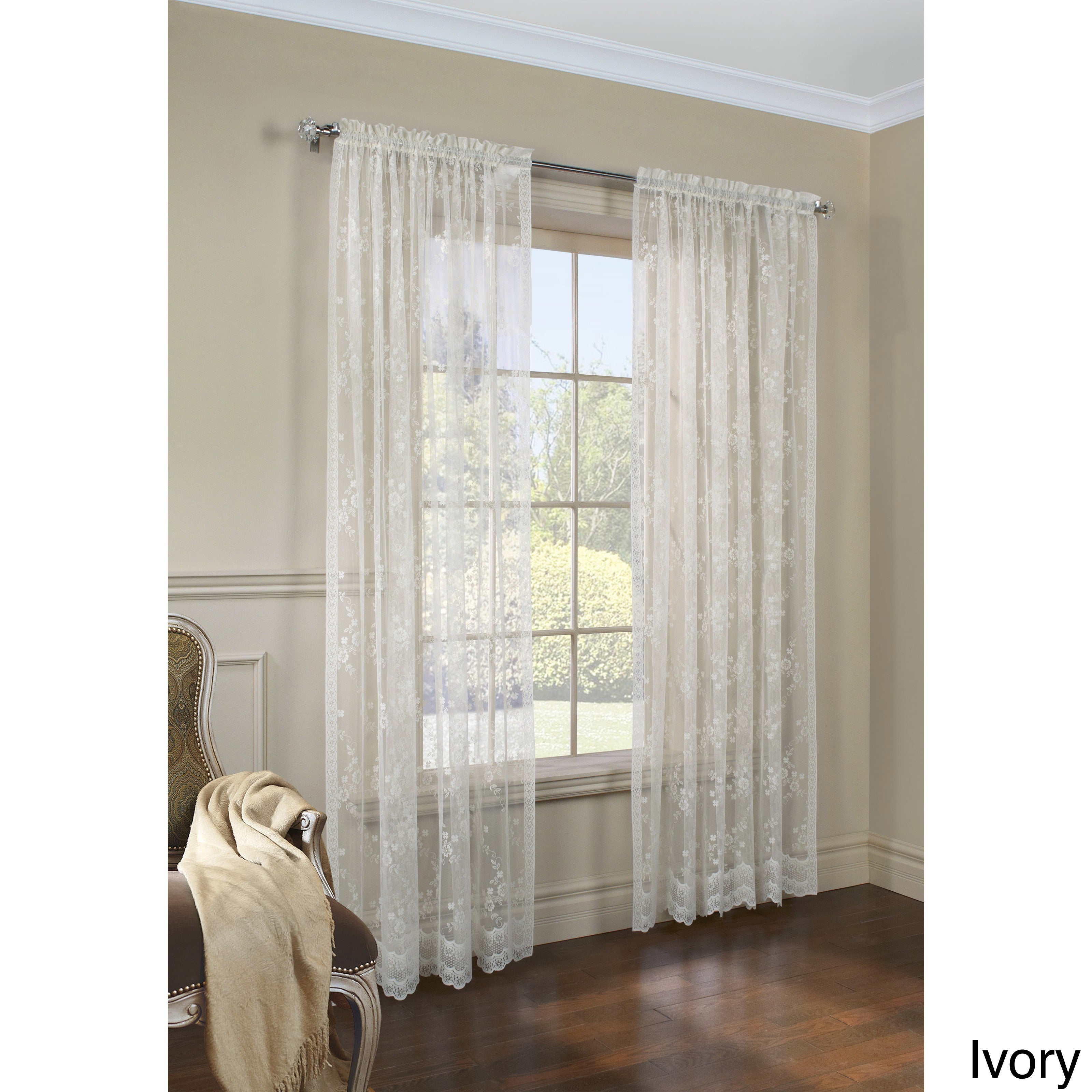 The Gray Barn Cattail Hollow Jacquard Lace Curtain Panel Pair Within The Gray Barn Gila Curtain Panel Pairs (View 22 of 30)