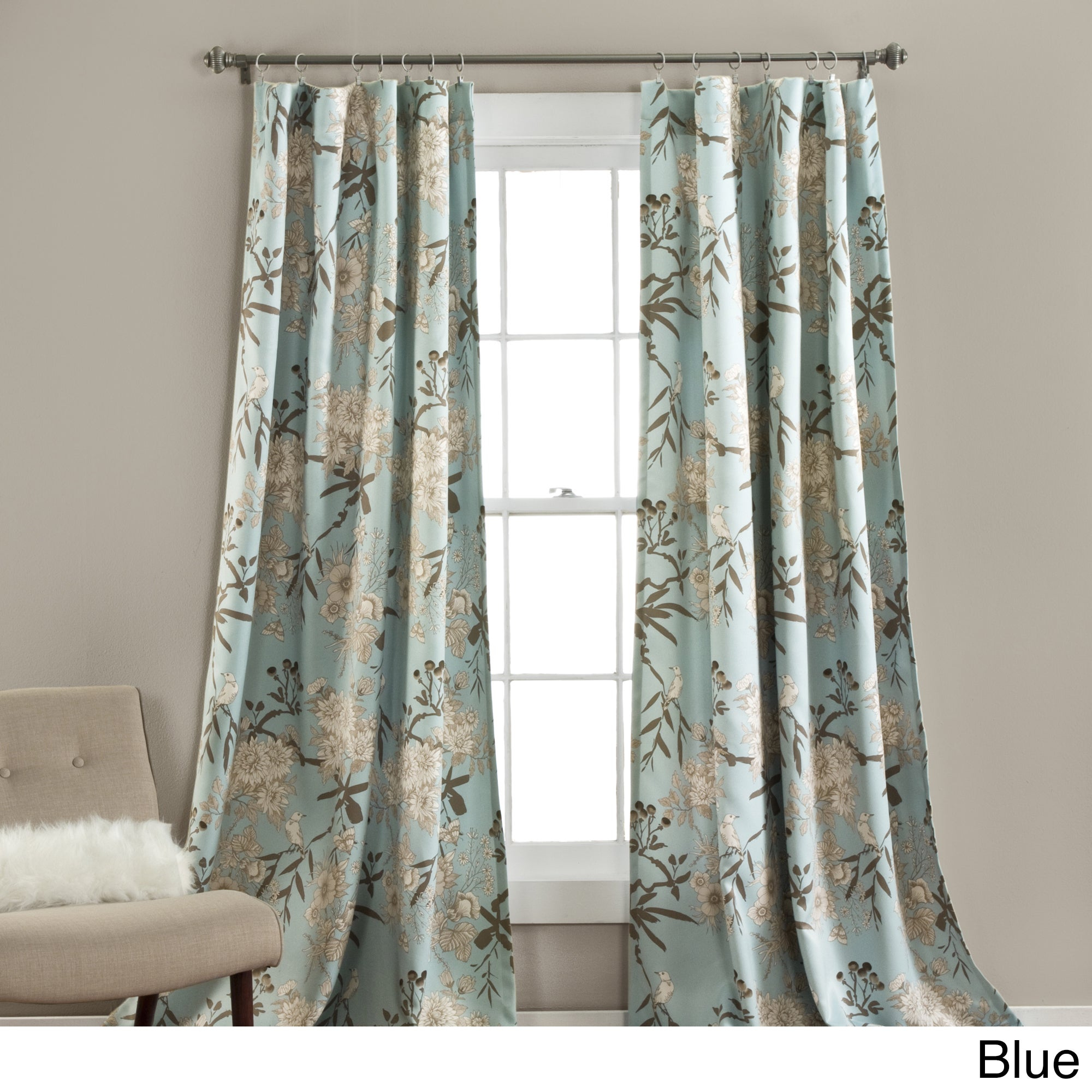 The Gray Barn Dogwood Floral Curtain Panel Pair Inside Gray Barn Dogwood Floral Curtain Panel Pairs (View 3 of 20)