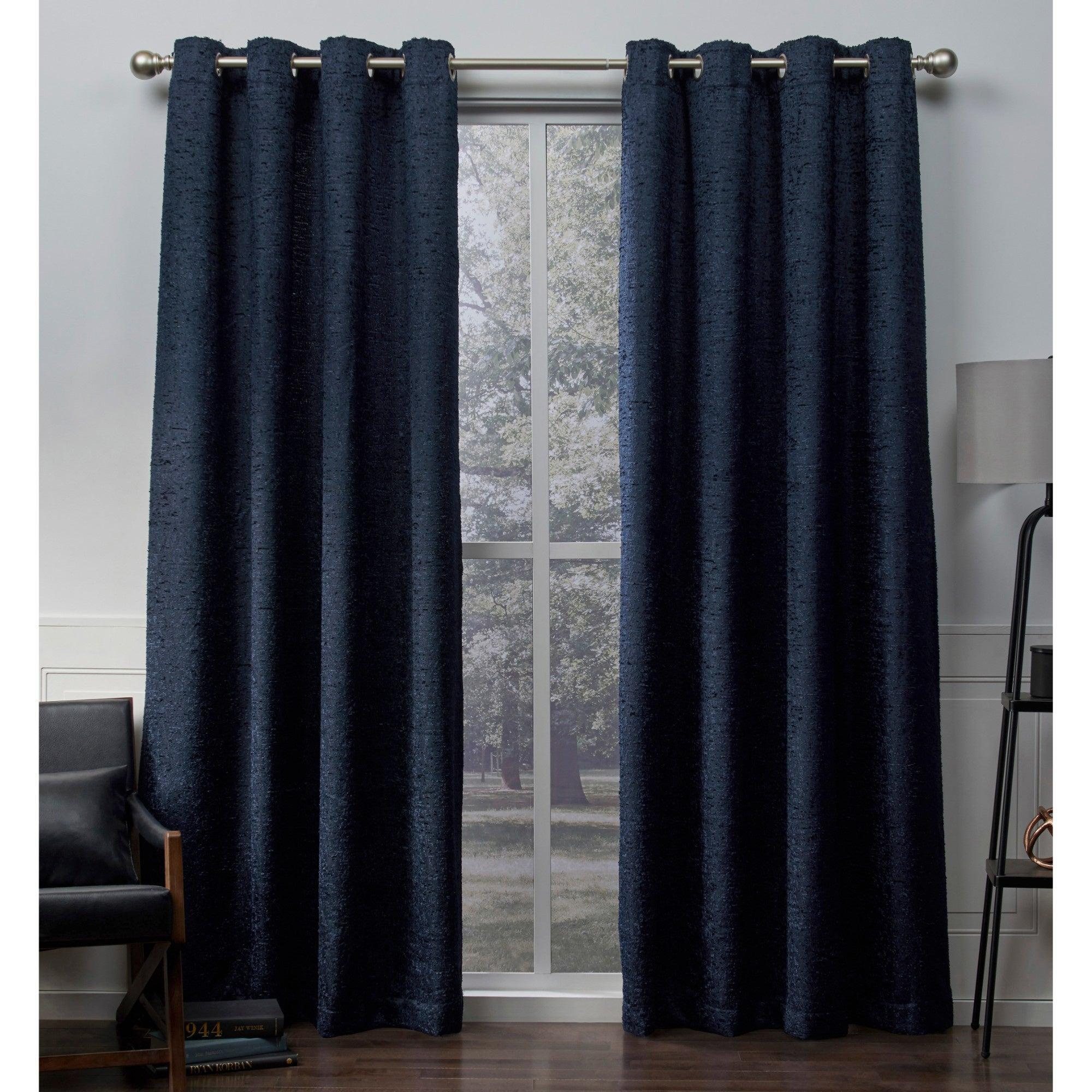 The Gray Barn Dreamweaver Chenille Room Darkening Curtain Panel Pair intended for Grommet Room Darkening Curtain Panels (Image 19 of 20)