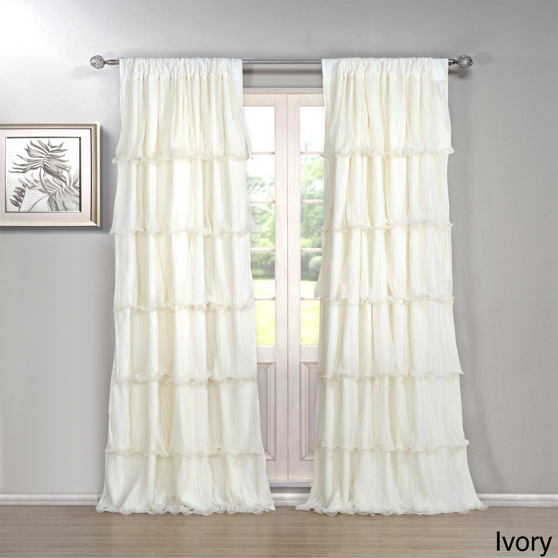 The Gray Barn Pasanen 84 Inch Ruffled Curtain Panel Pertaining To The Gray Barn Gila Curtain Panel Pairs (View 3 of 30)
