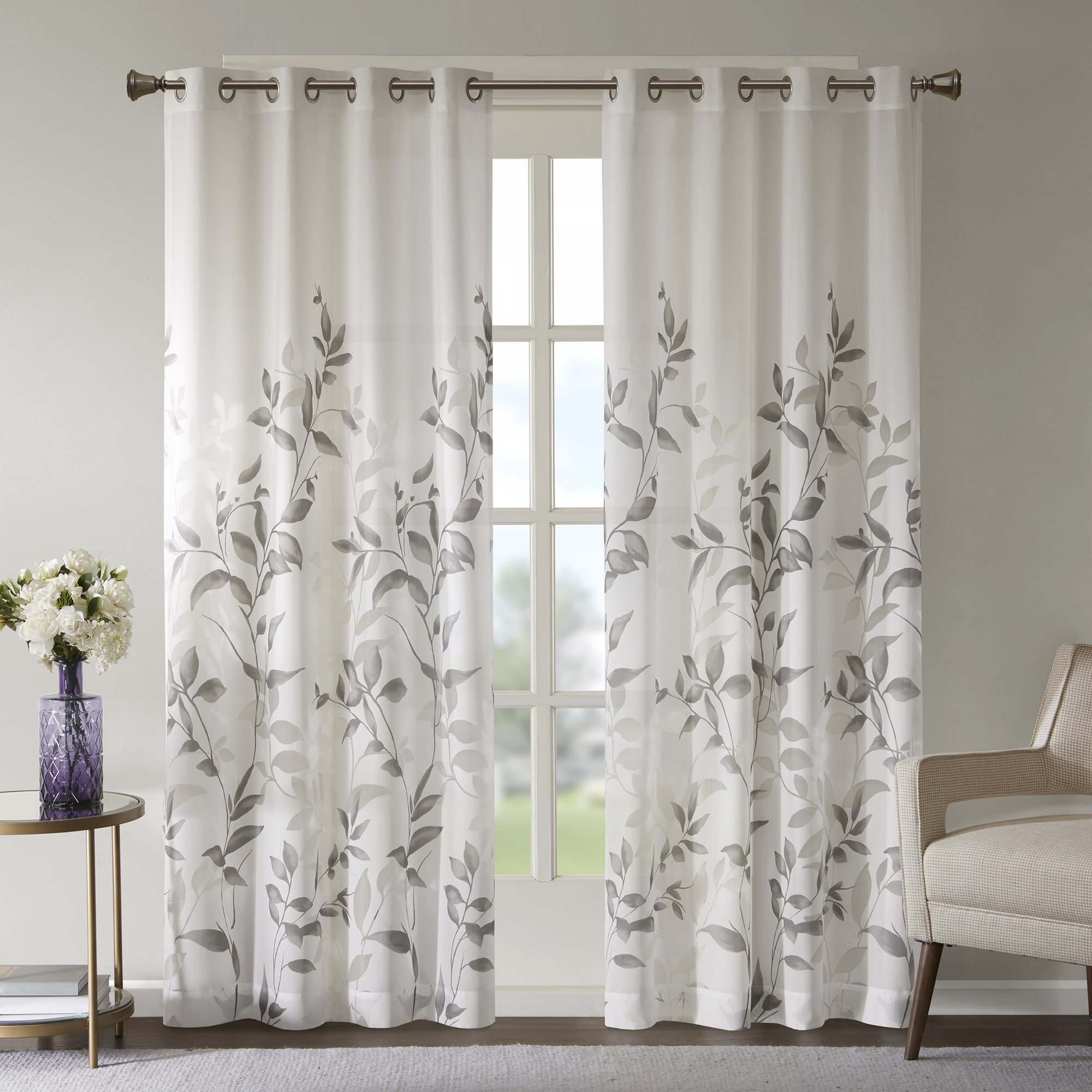 The Gray Barn Yturria Grey Printed Curtain Panel | Overstock Intended For Grey Printed Curtain Panels (View 2 of 20)