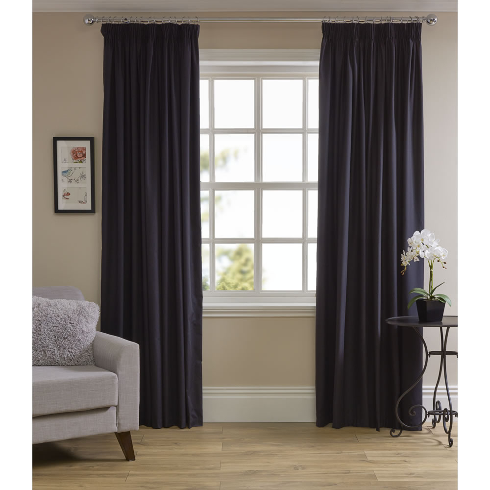 Thermal Blackout Curtains Pertaining To London Blackout Panel Pair (View 18 of 20)