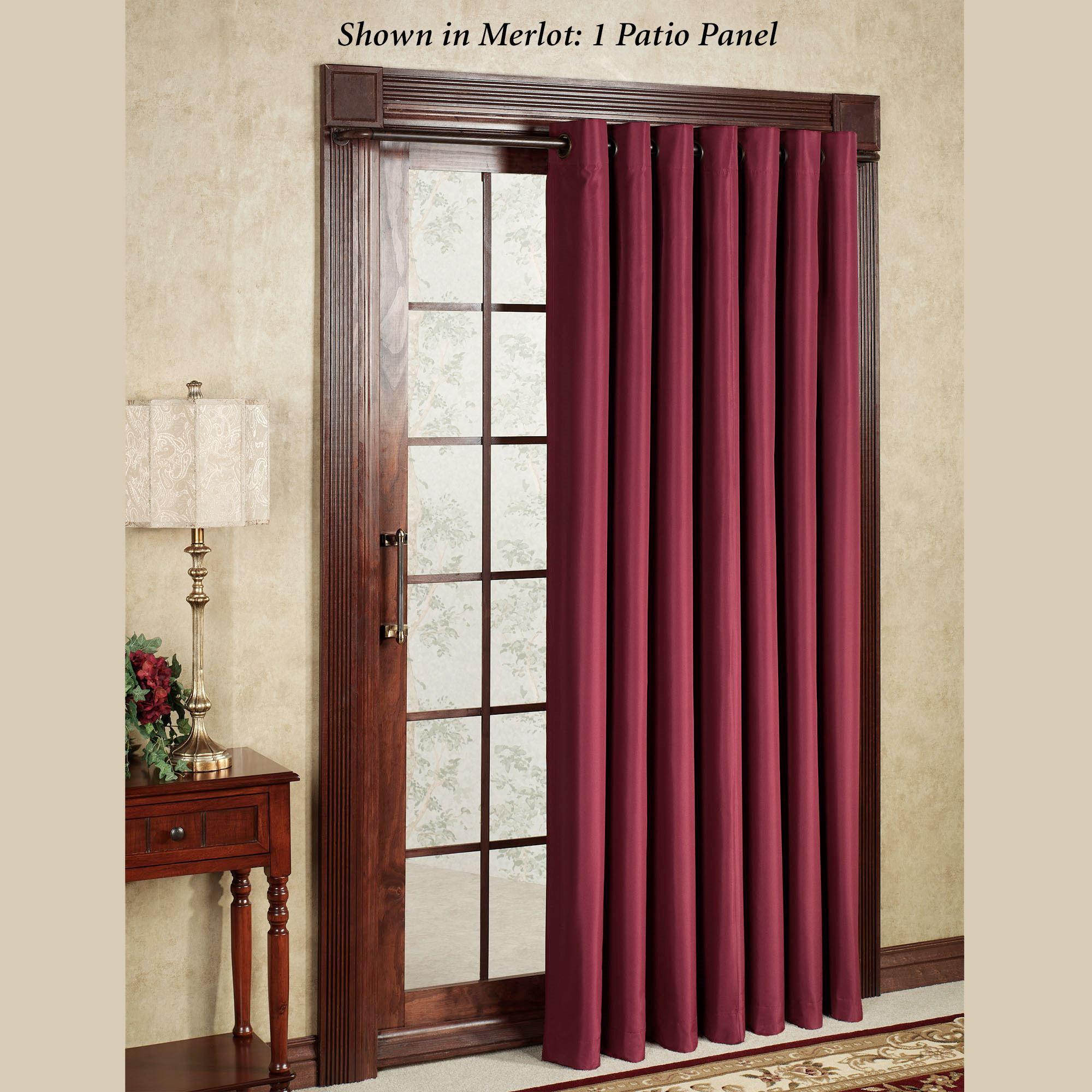 Thermal Elegance Grommet Patio Panel Pertaining To Grommet Blackout Patio Door Window Curtain Panels (View 13 of 20)