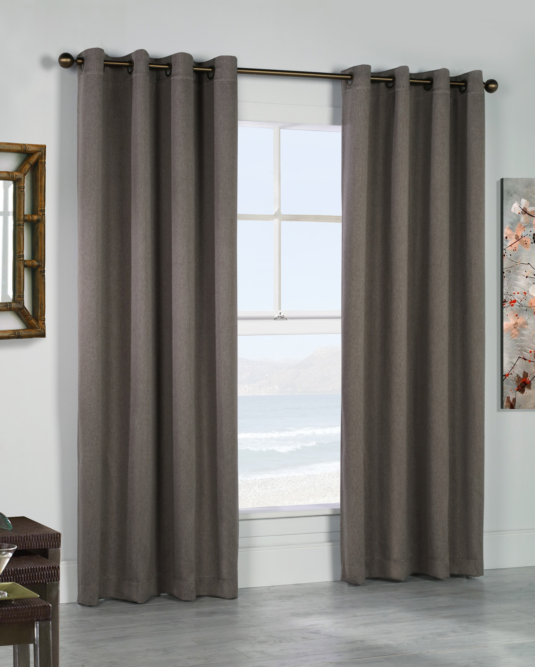 Thermal Grommet Top Curtains – Grommet Top Insulated Panels Within Gray Barn Dogwood Floral Curtain Panel Pairs (View 17 of 20)