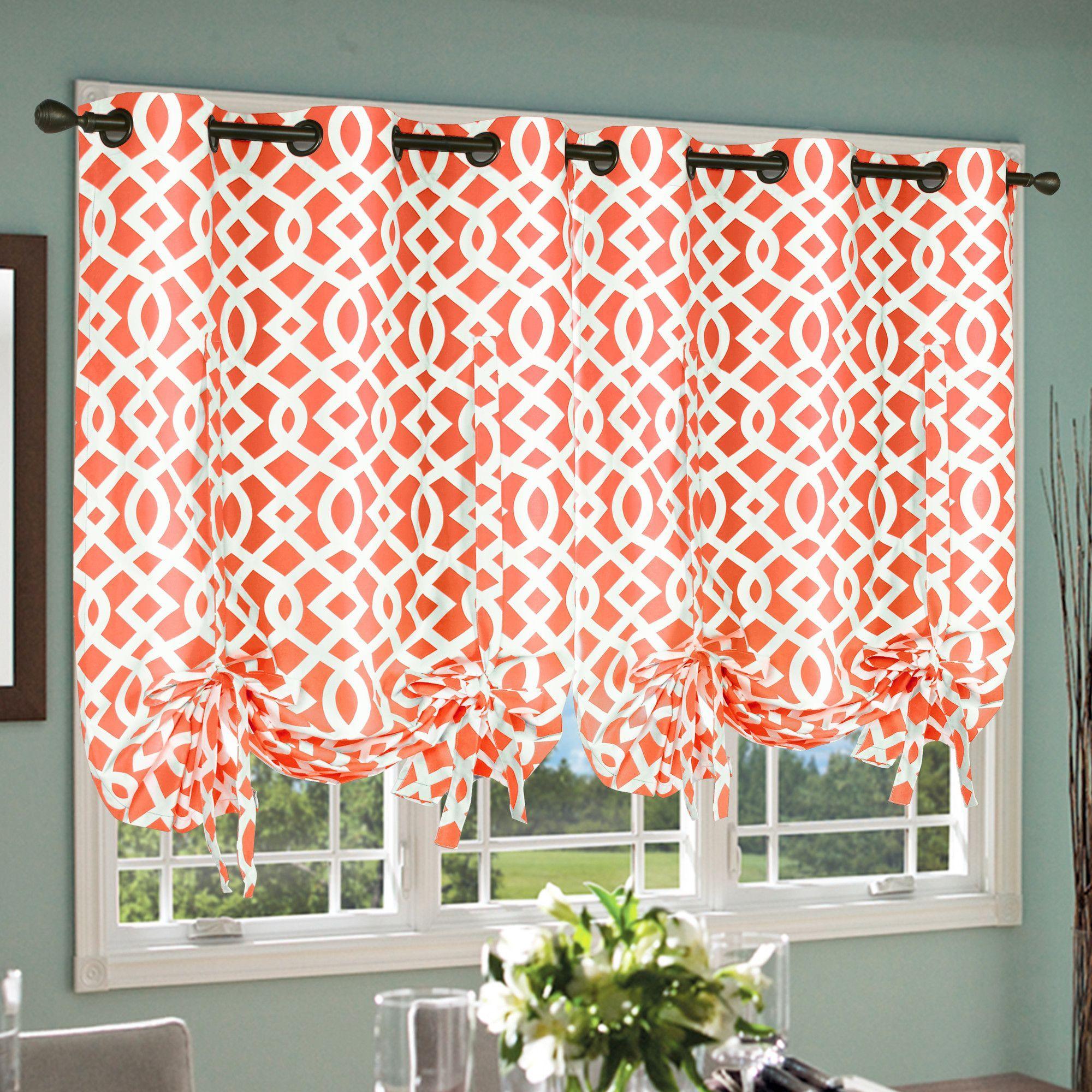 Thermalogic Trellis Tie Up Curtain Single Panel & Reviews Regarding Prescott Insulated Tie Up Window Shade (View 9 of 20)