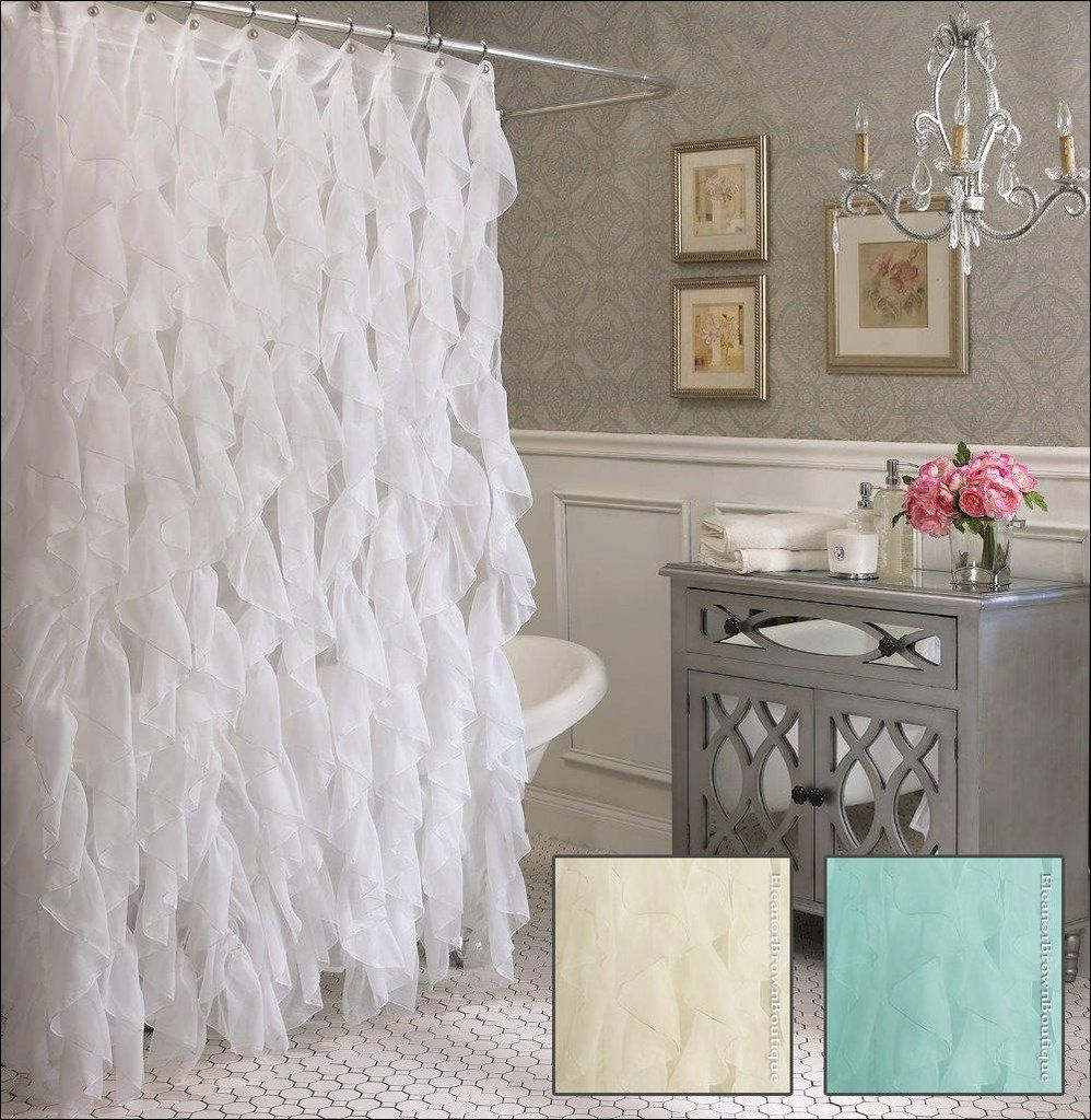 This Lovely Curtain Features Cascades Of Semi Sheer In Sheer Voile Waterfall Ruffled Tier Single Curtain Panels (View 17 of 20)