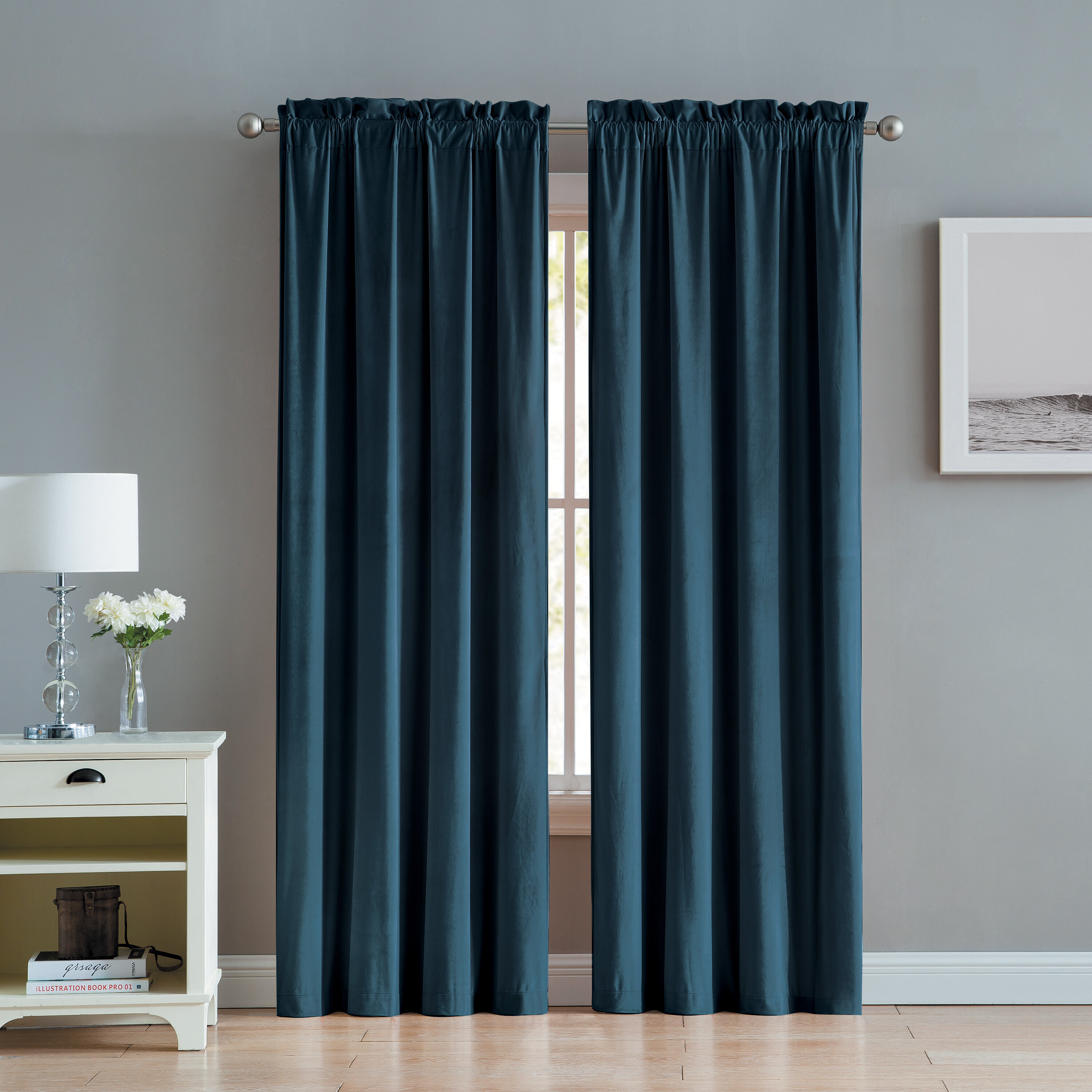 Three Posts Judsonia Velvet Solid Room Darkening Rod Pocket Throughout Velvet Solid Room Darkening Window Curtain Panel Sets (View 8 of 30)