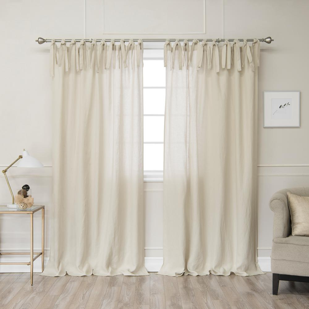 Tie Top Curtains – Easy Home Decorating Ideas Inside Elrene Jolie Tie Top Curtain Panels (View 15 of 20)