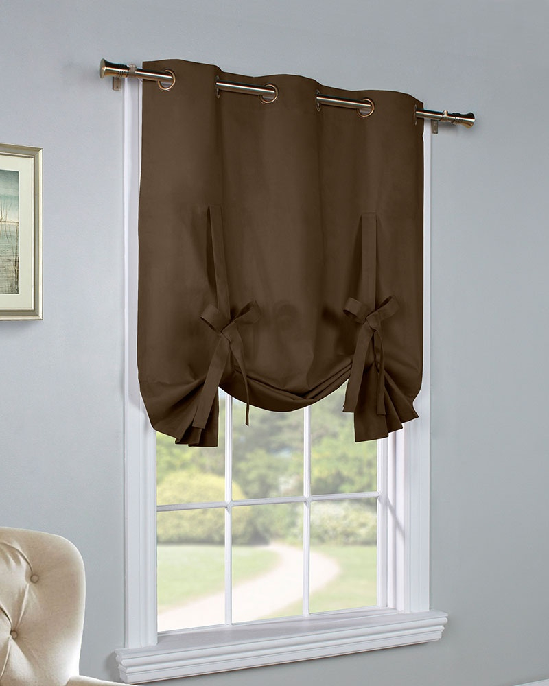 Tie Up Curtain – Curtain Decorating Ideas Intended For Prescott Insulated Tie Up Window Shade (View 4 of 20)