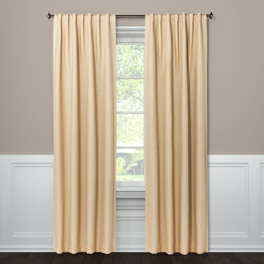Tie Your Decor Together With This Small Check Curtain Panel Inside Inez Patio Door Window Curtain Panels (View 9 of 20)