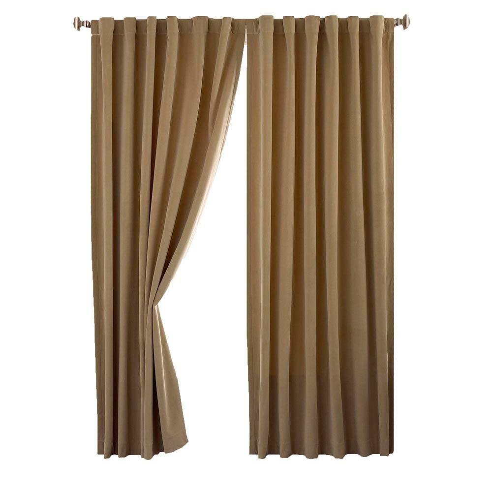 Total Blackout Curtains Canada | Flisol Home For Sunsmart Abel Ogee Knitted Jacquard Total Blackout Curtain Panels (View 28 of 30)