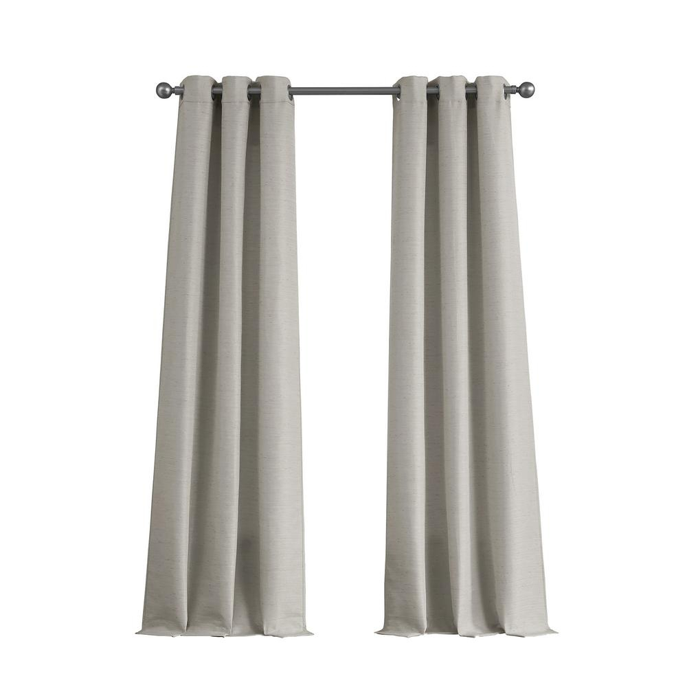 Tribeca Raw Faux Silk Grommet 76 In. X 84 In (View 15 of 20)