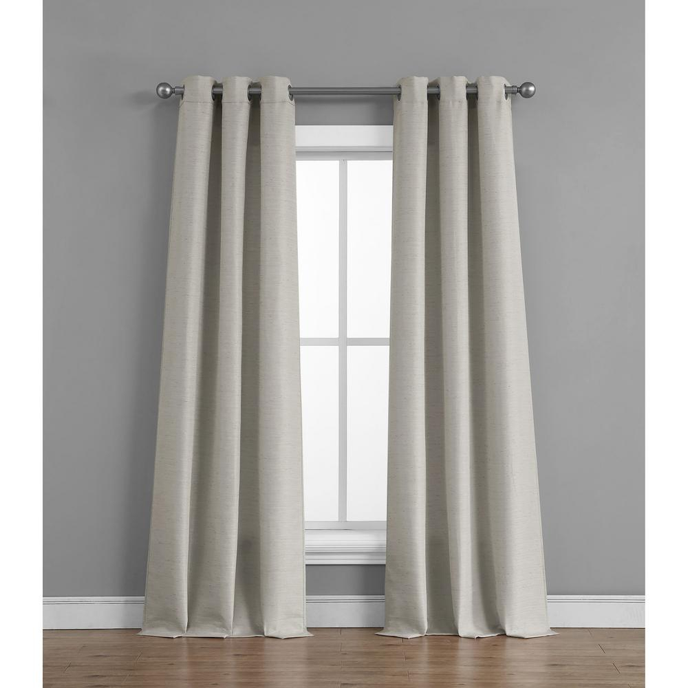 Tribeca Raw Faux Silk Grommet 76 In. X 84 In (View 9 of 20)