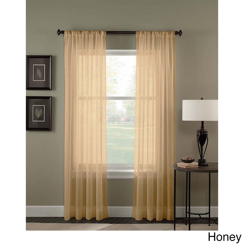 Trinity Crinkle Voile Extrawide Sheer Curtain Panel Pertaining To Extra Wide White Voile Sheer Curtain Panels (View 19 of 20)