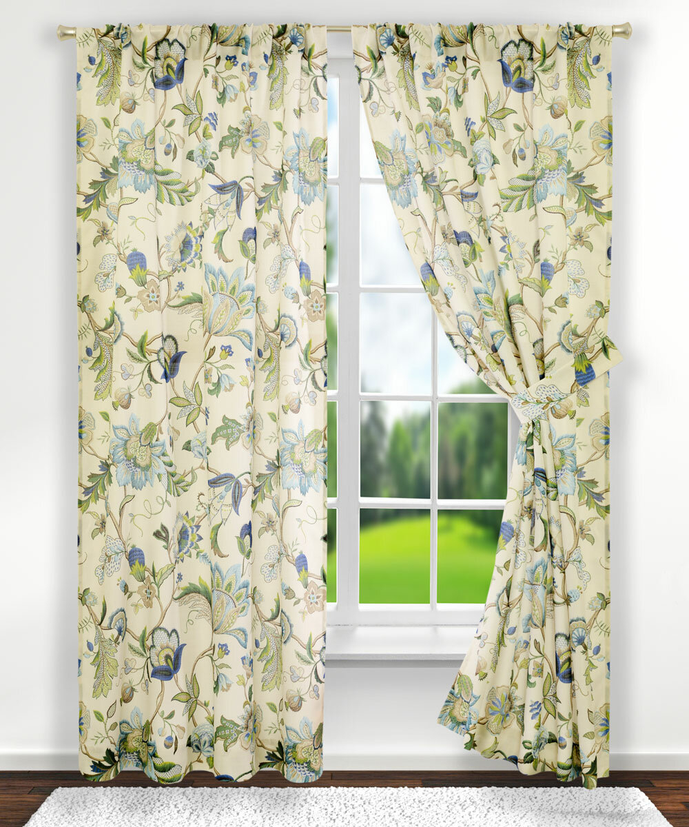 Tuckerman Floral/flower Rod Pocket Panel Pair Within Curtain Panel Pairs (View 20 of 20)