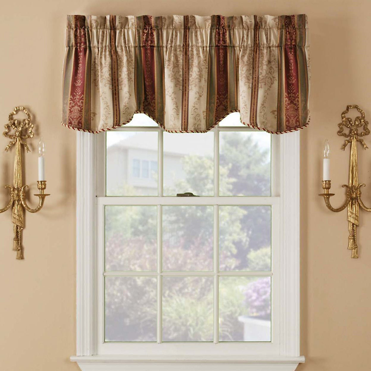 Tuscan Rod Pocket Valance Pair Inside Tuscan Thermal Backed Blackout Curtain Panel Pairs (View 11 of 30)