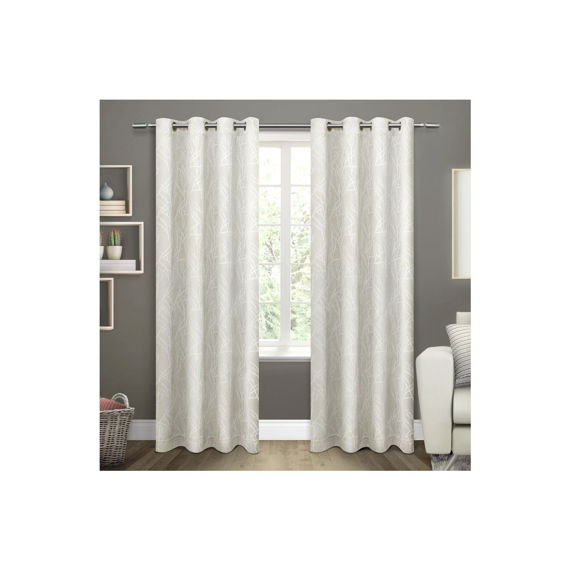 Twig Insulated Woven Blackout Grommet Top Window Curtain For The Curated Nomad Duane Jacquard Grommet Top Curtain Panel Pairs (View 23 of 30)