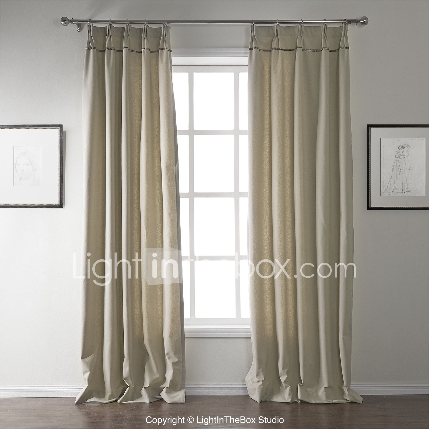 Two Panels Curtain Modern , Solid Living Room Linen / Cotton With Solid Country Cotton Linen Weave Curtain Panels (View 24 of 30)