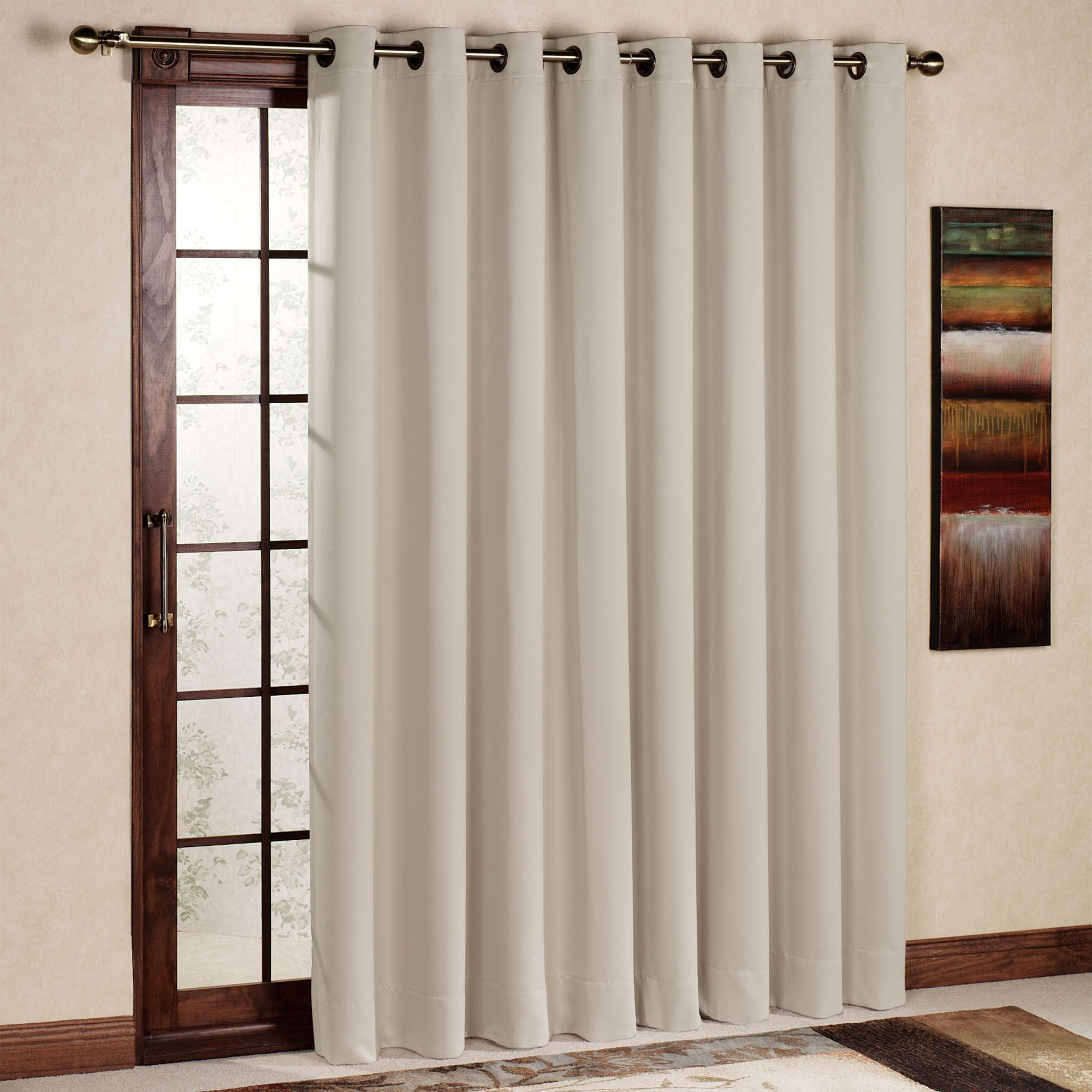 Ultimate Blackout Grommet Patio Panel Pertaining To Patio Grommet Top Single Curtain Panels (View 4 of 20)